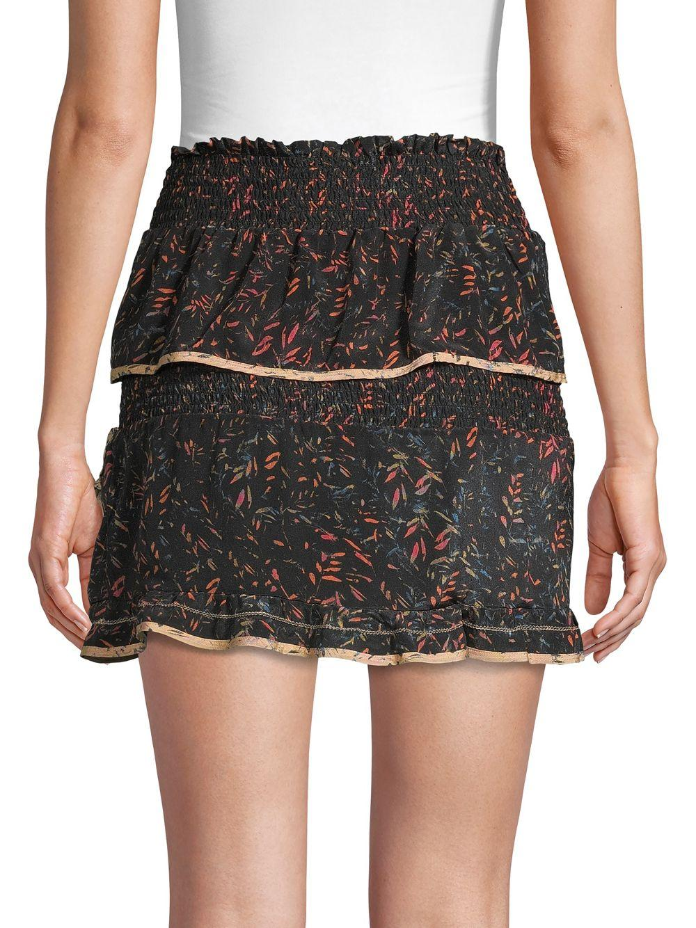 22331708454e8 IRO Jully Tiered Ruffle Mini Skirt in Black - Lyst