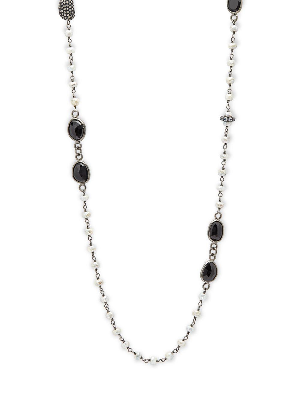 Bavna Single-Strand Black Spinel Necklace JsLDXD