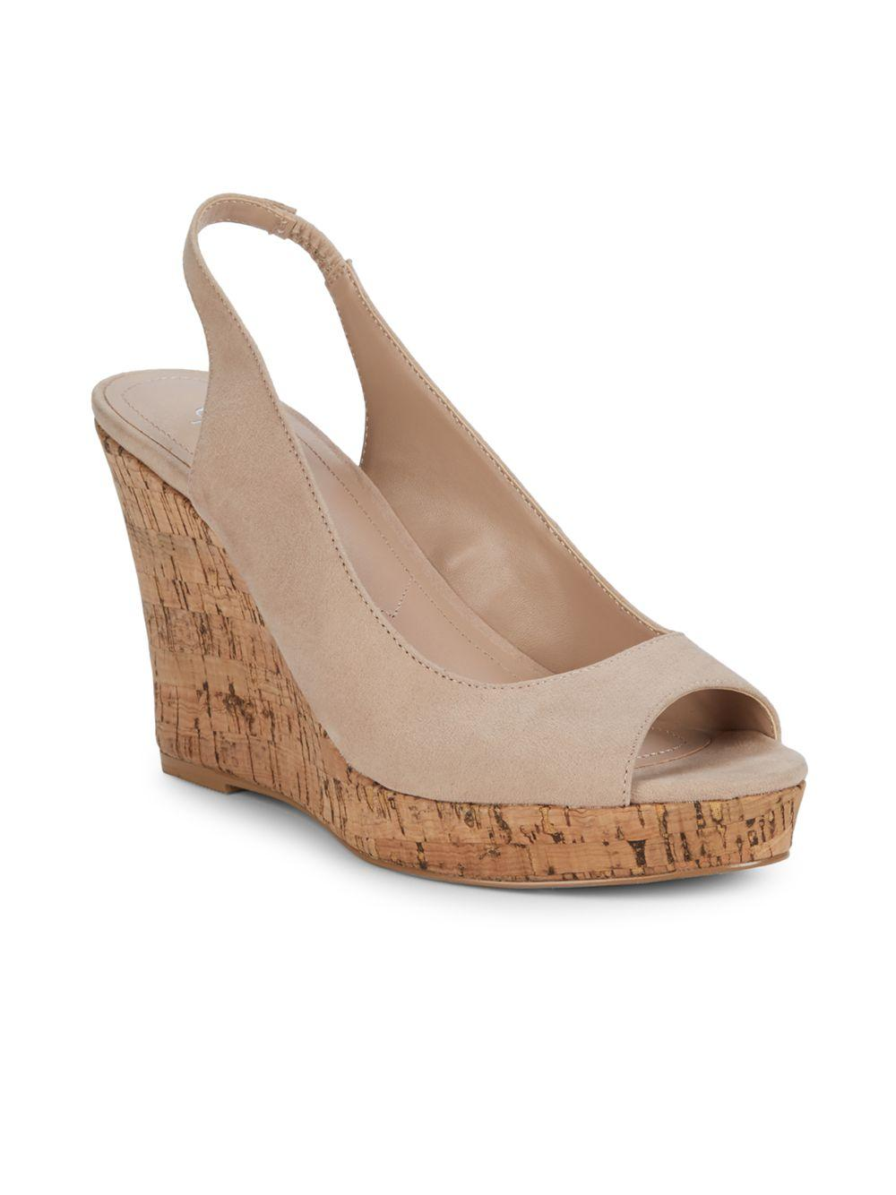 a63b3882e6d Lyst - Charles David Leandra Slingback Wedge Sandals in Natural ...