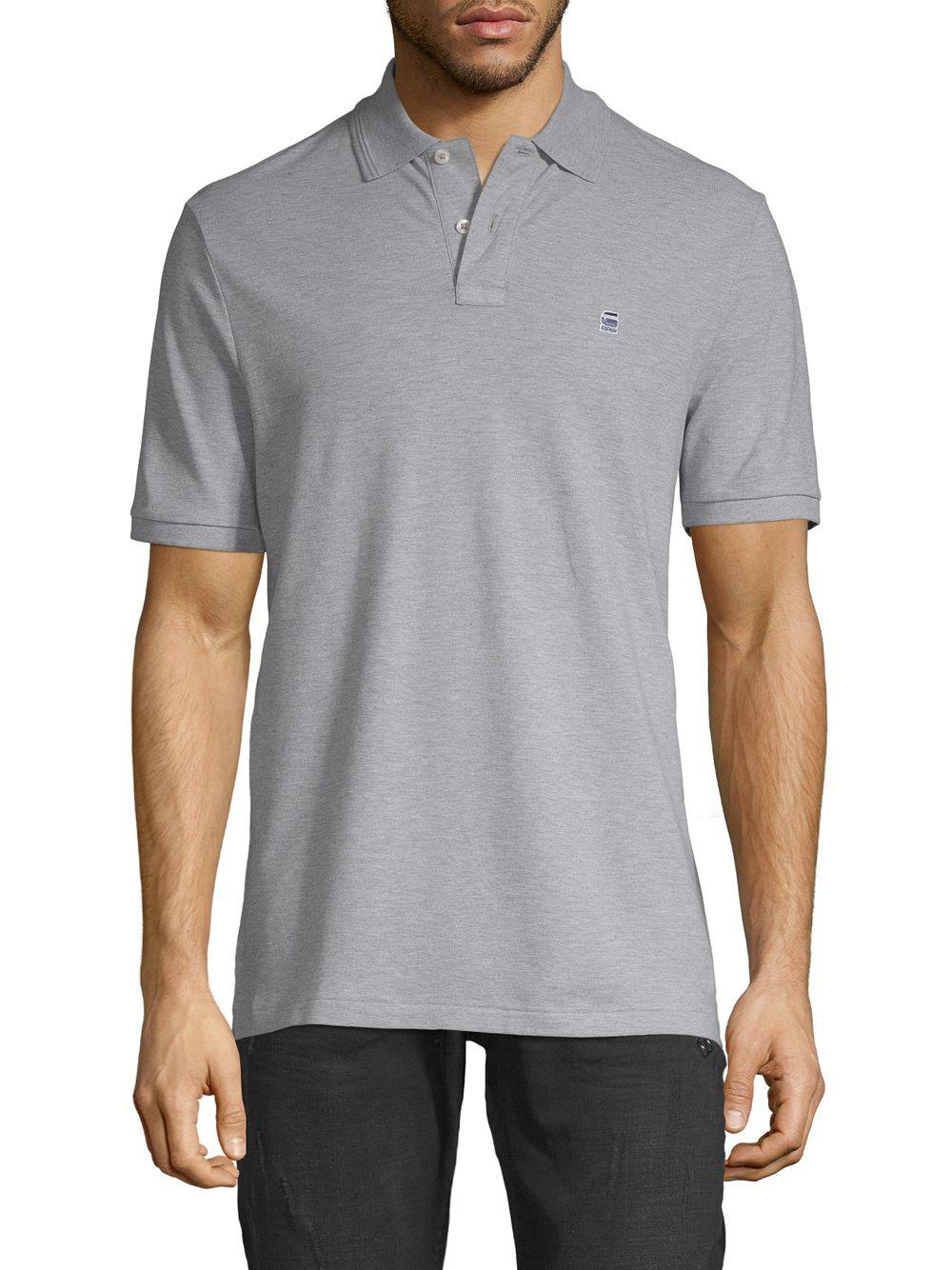 bc62d8faabc G-Star Raw Dunda Premium Polo in Gray for Men - Lyst