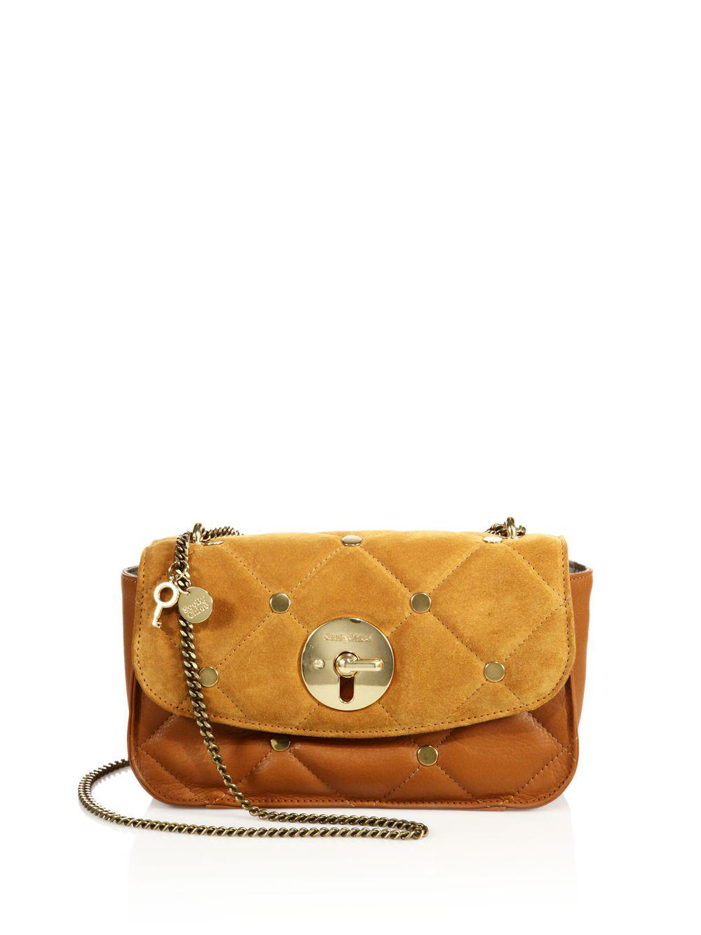 Polina Evening Bag in Sandy Brown Metallic Cowhide Leather See By Chlo Nc9qQCR