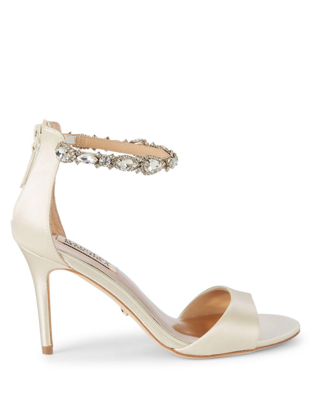 9b9c0120568 Lyst - Badgley Mischka Sindy Bejeweled D orsay Sandals in White