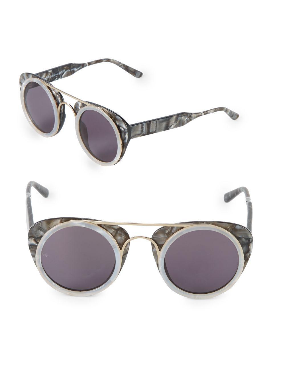 f7f7b4bf09 Smoke X Mirrors Sodapop Iii 47mm Round Sunglasses in Gray - Lyst