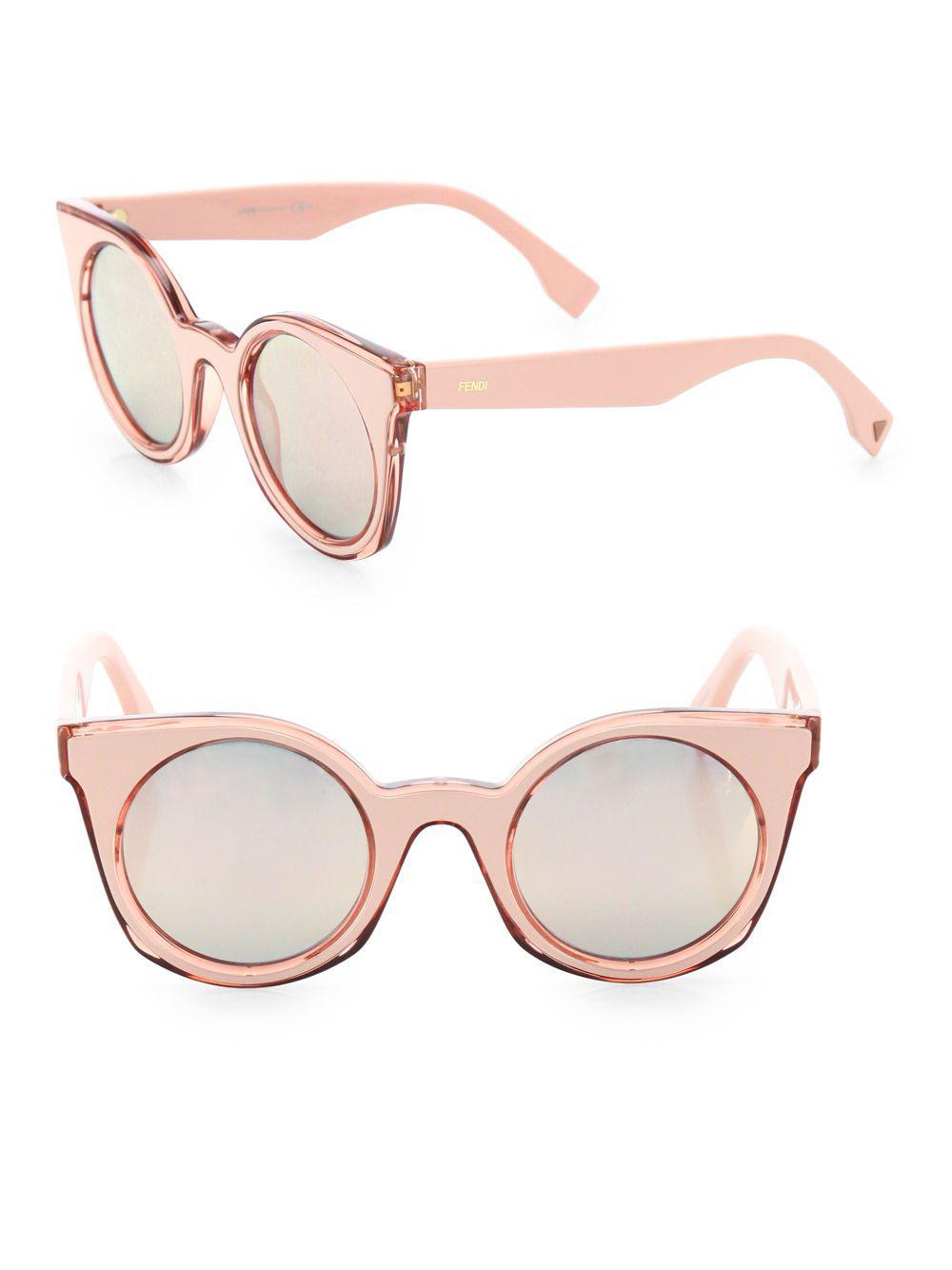 eab8b73051e Lyst - Fendi 48mm Rounded Cat-eye Sunglasses