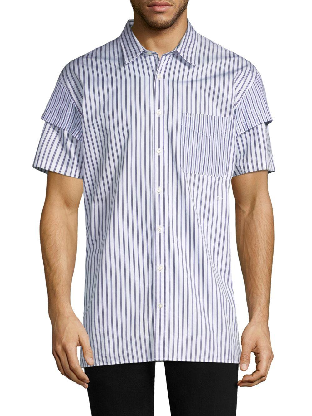 6f905e08 Lyst - Tommy Hilfiger He Two-in-one Shirt in Blue for Men