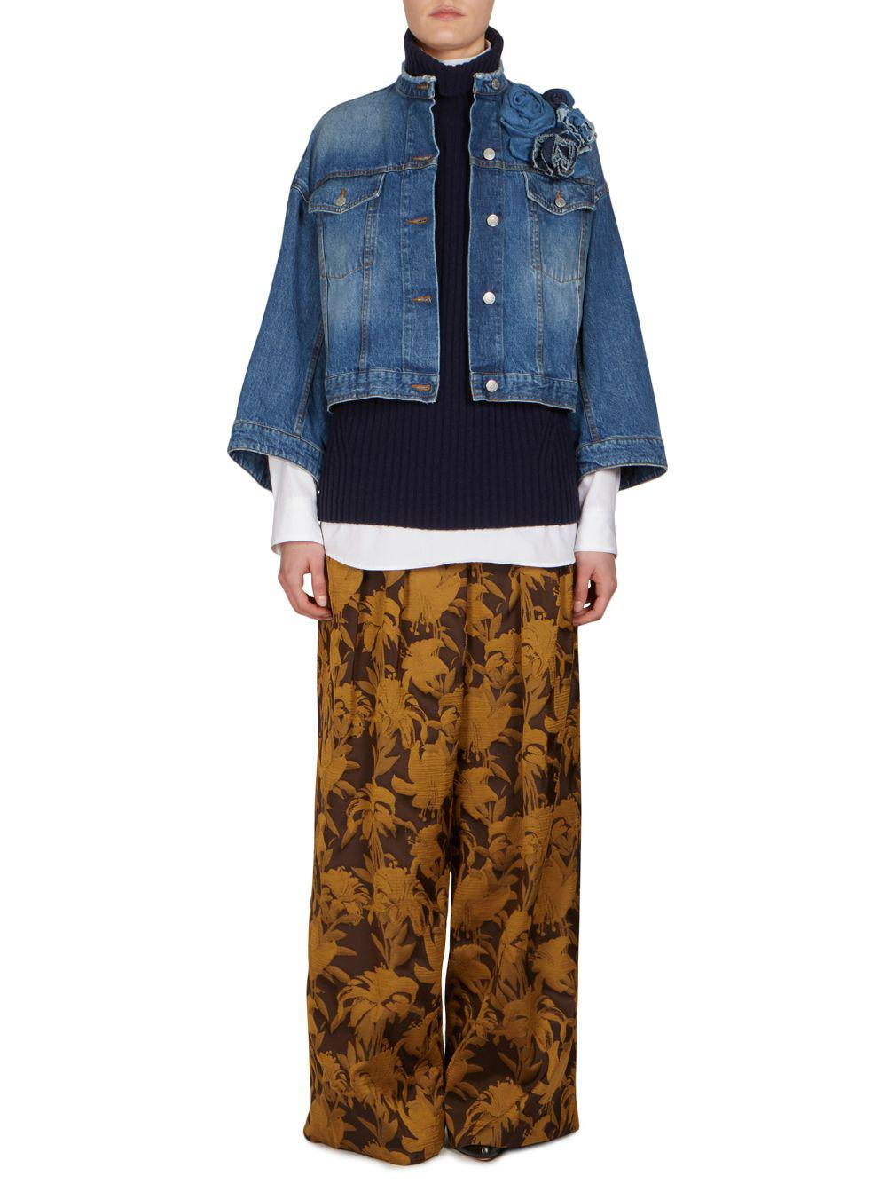 095310e4bc Lyst - Dries Van Noten Cotton Denim Jacket in Blue