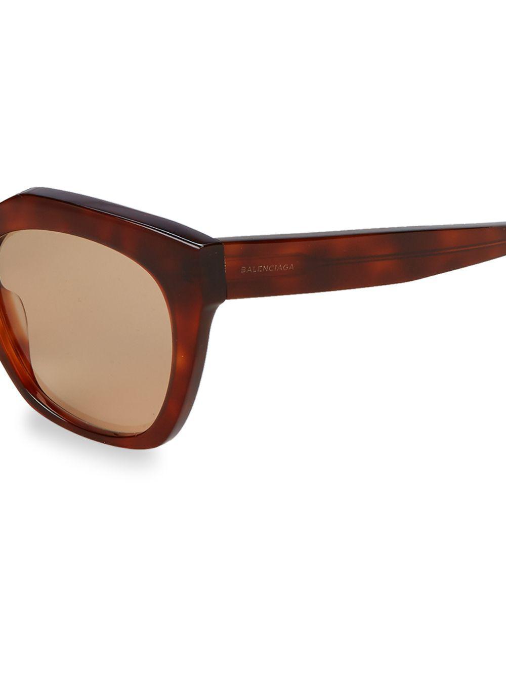 266c692eb4a Balenciaga - Brown 54mm Square Sunglasses - Lyst. View fullscreen