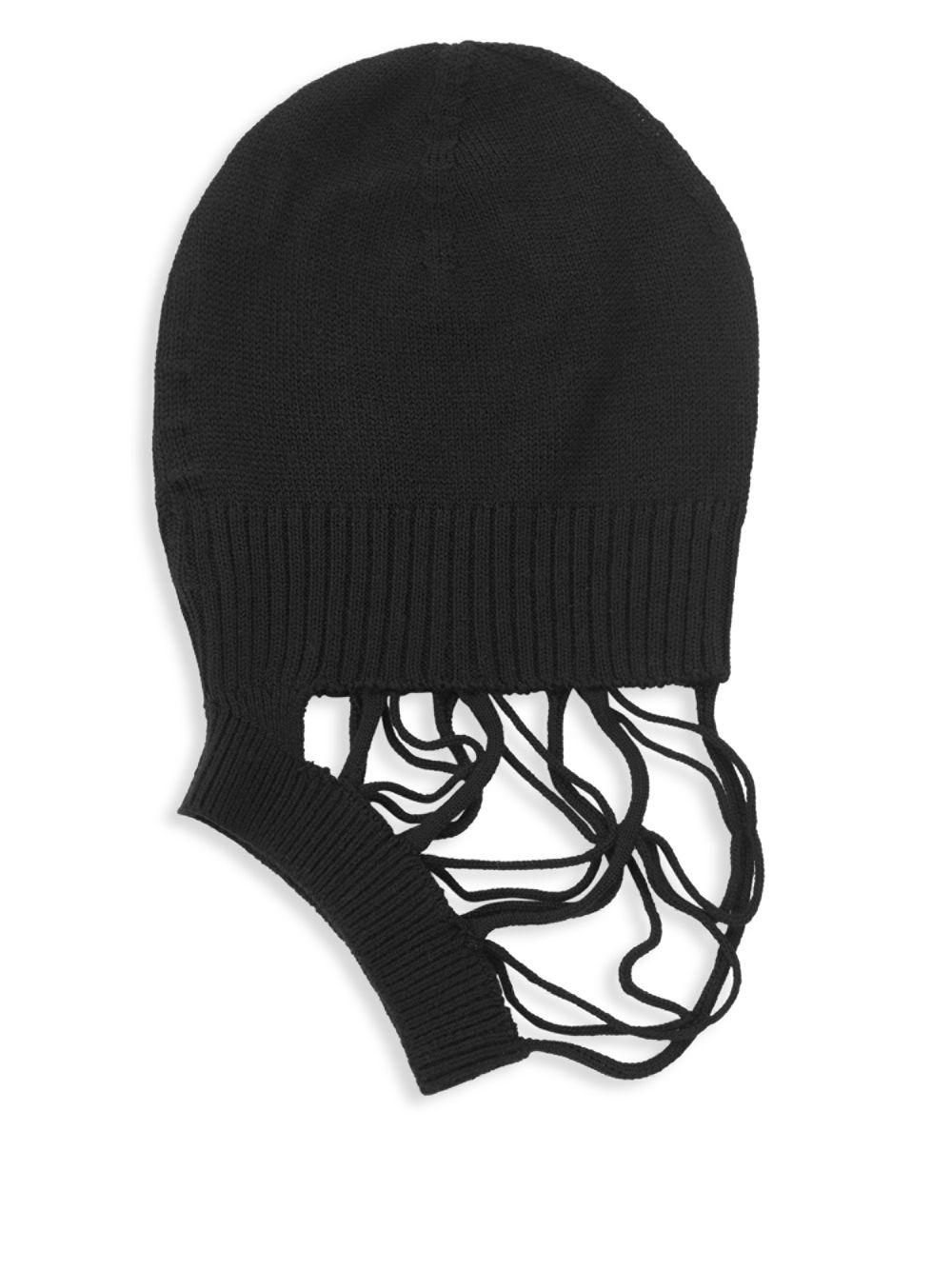 b23a44991b654 Rick Owens Fishnet Front Beanie in Black for Men - Lyst
