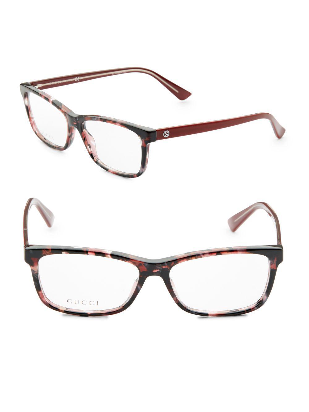 e6b7416541 Gucci - Brown Havana 51mm Wayfarer Optical Glasses - Lyst. View fullscreen
