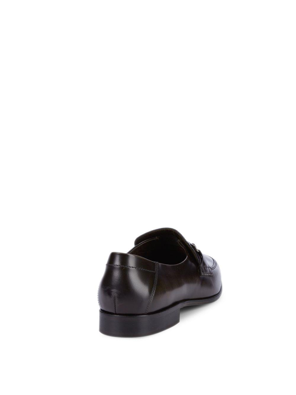 60d8680c986 Lyst - Bruno Magli Leather Horsebit Loafers in Gray for Men