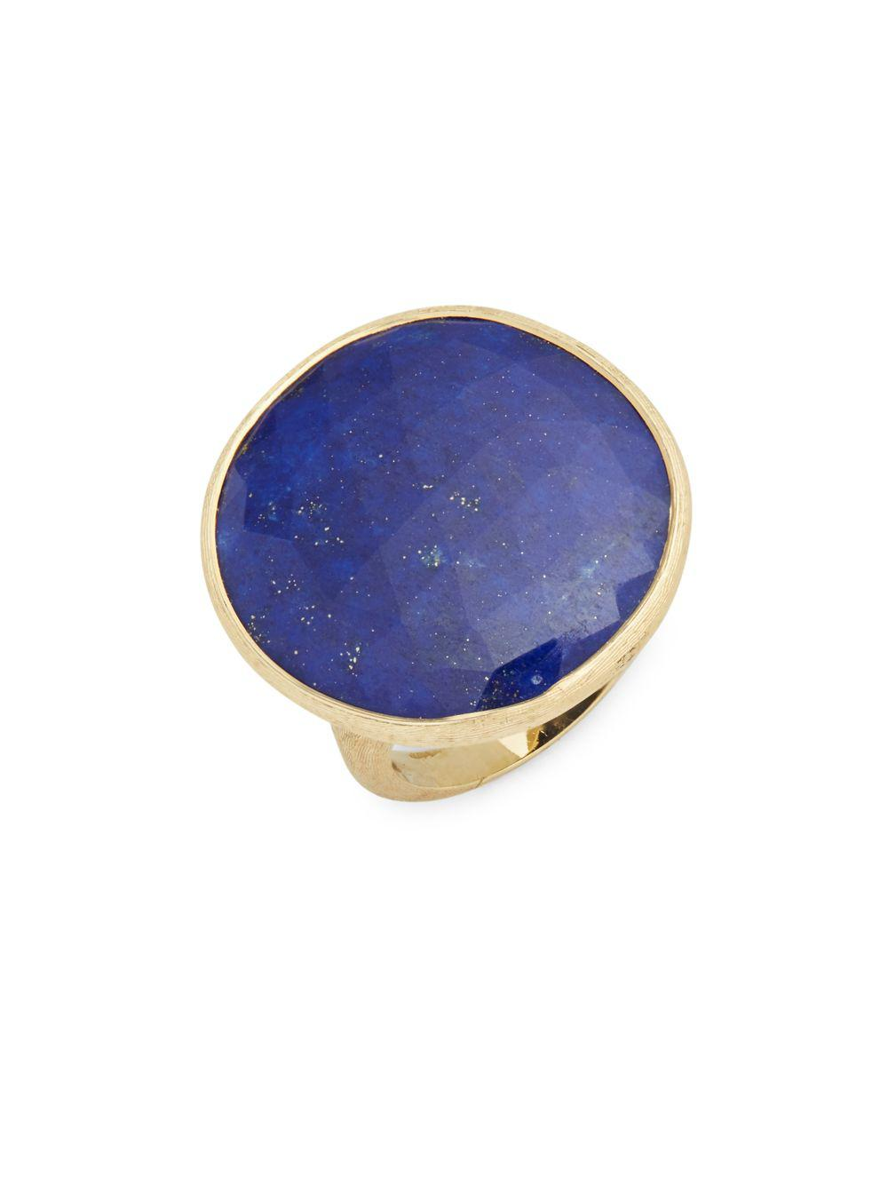 Marco bicego Blue Aventurine & 18k Gold Unico Solitaire Ring in ...