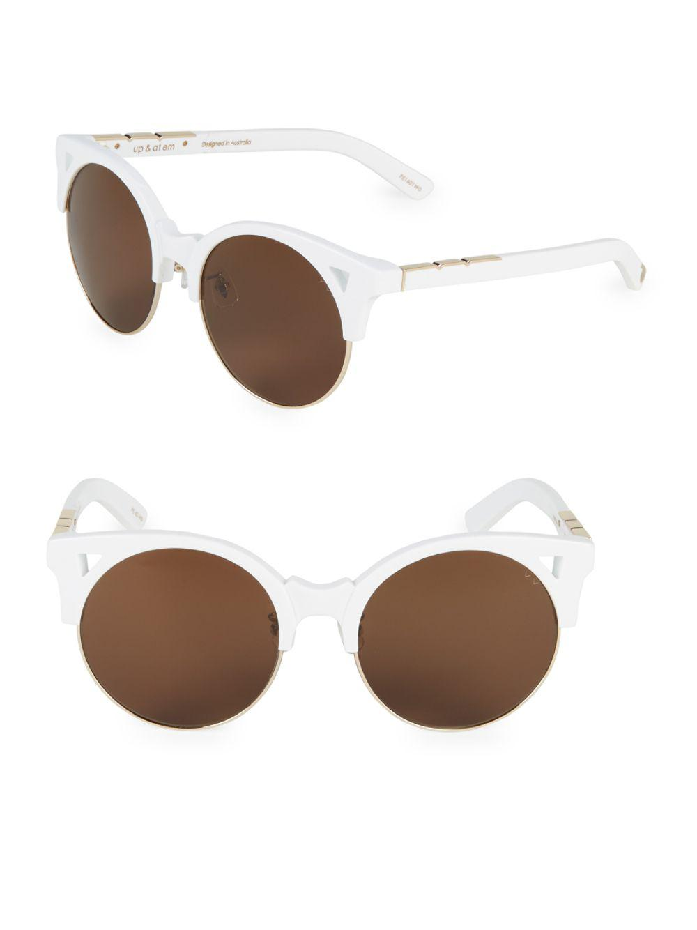 9ca447ba8f Pared Eyewear 50mm Butterfly Sunglasses in White - Lyst