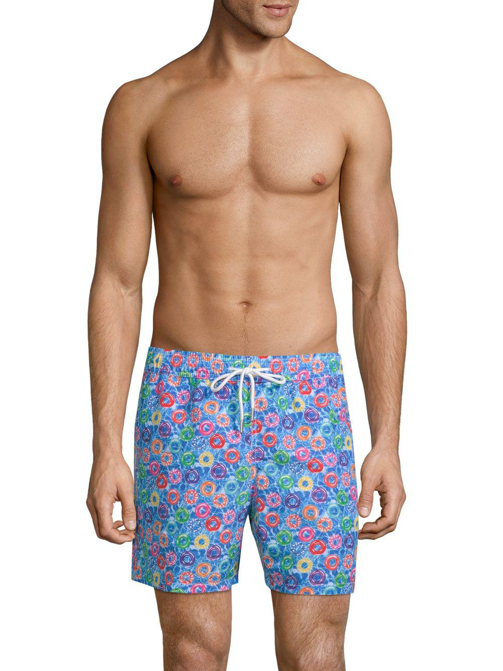 Lyst Jared Lang Donutprint Swim Shorts in Blue for Men