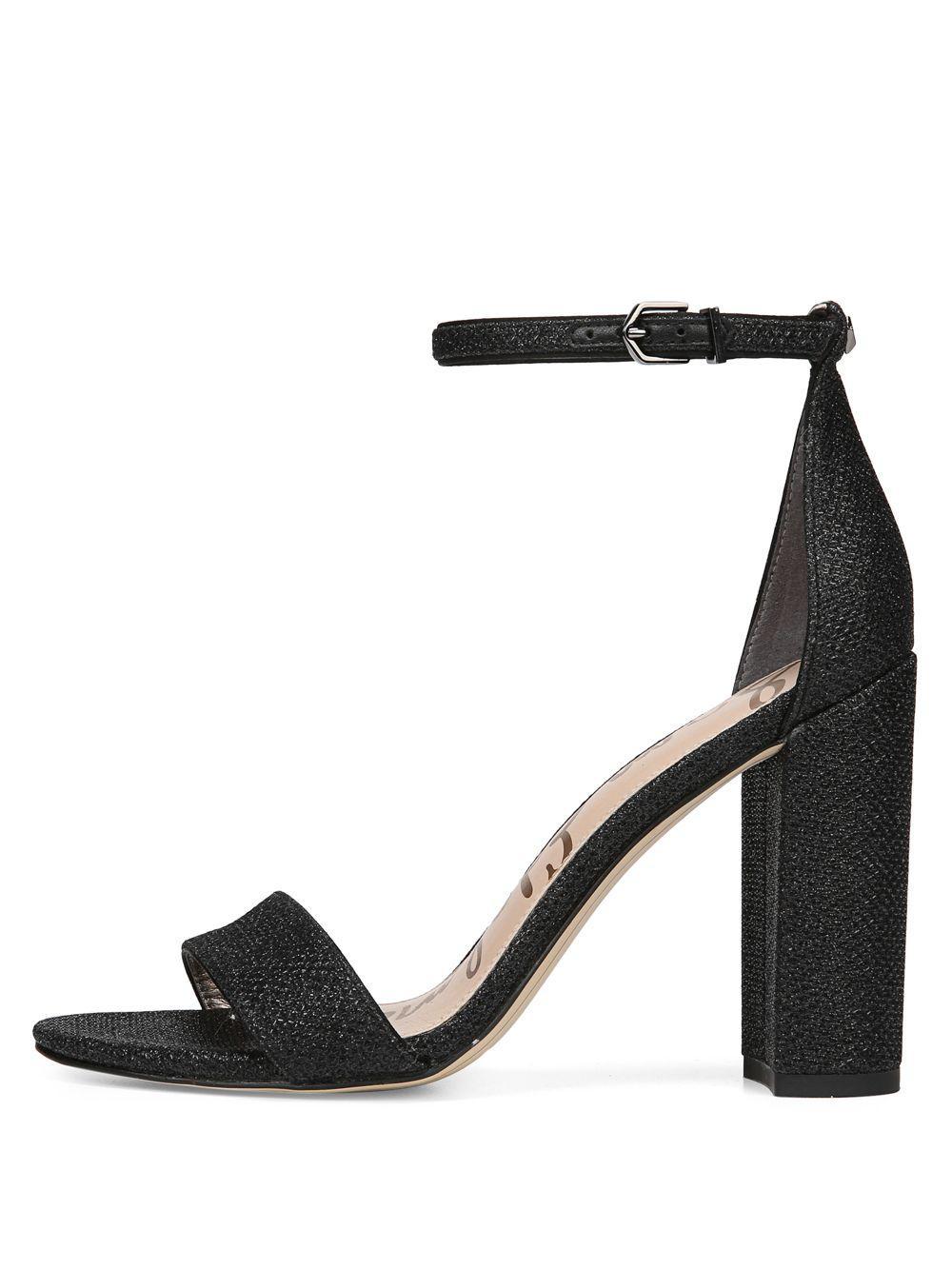 61e4cdaf44b Sam Edelman - Black Orient Express Yaro Leather Ankle-strap Sandals - Lyst.  View fullscreen