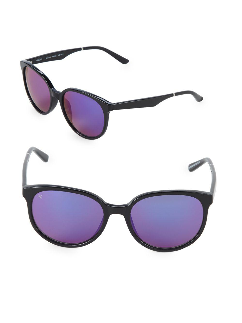 a0fc96548b7 Lyst - Smoke X Mirrors Vincent 54mm Oval Sunglasses in Black