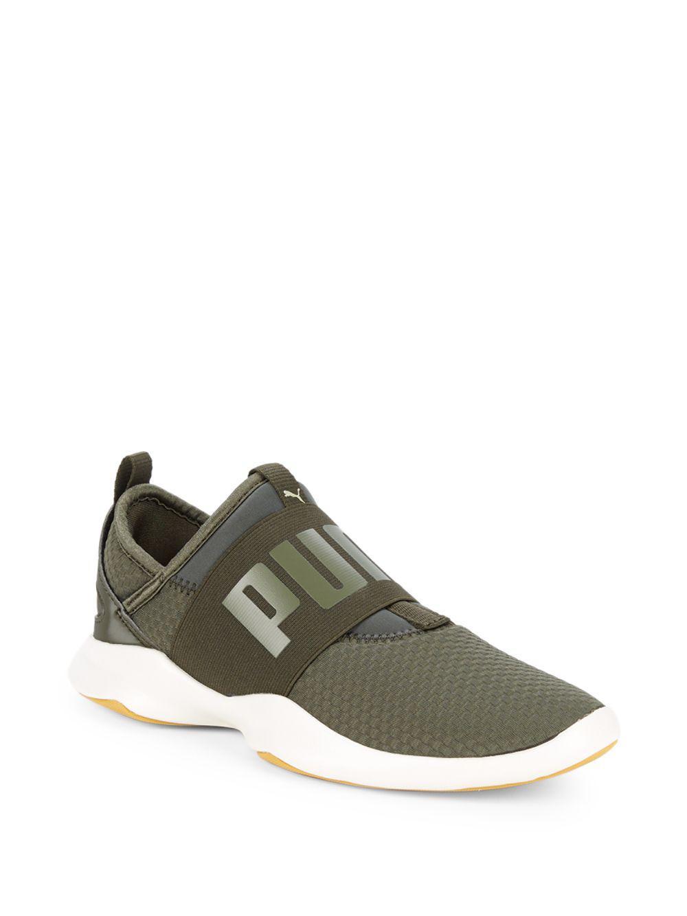 fd7b78215a3 Lyst - PUMA Dare Logo Slip-on Sneakers in Green for Men