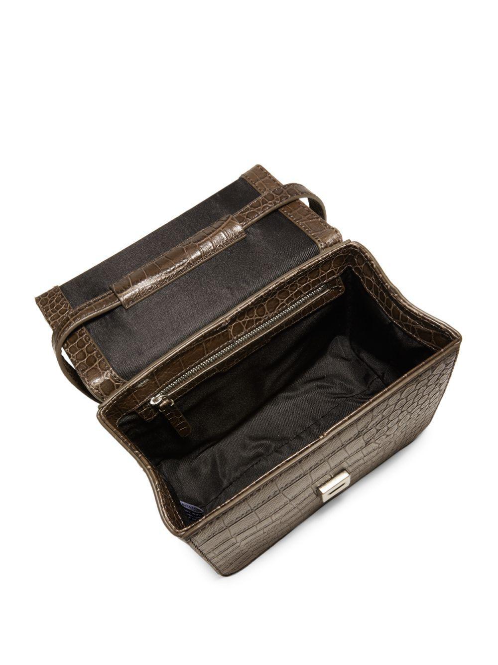 b4472ade7eab Steven Alan - Brown Classic Embossed Leather Crossbody Bag - Lyst. View  fullscreen