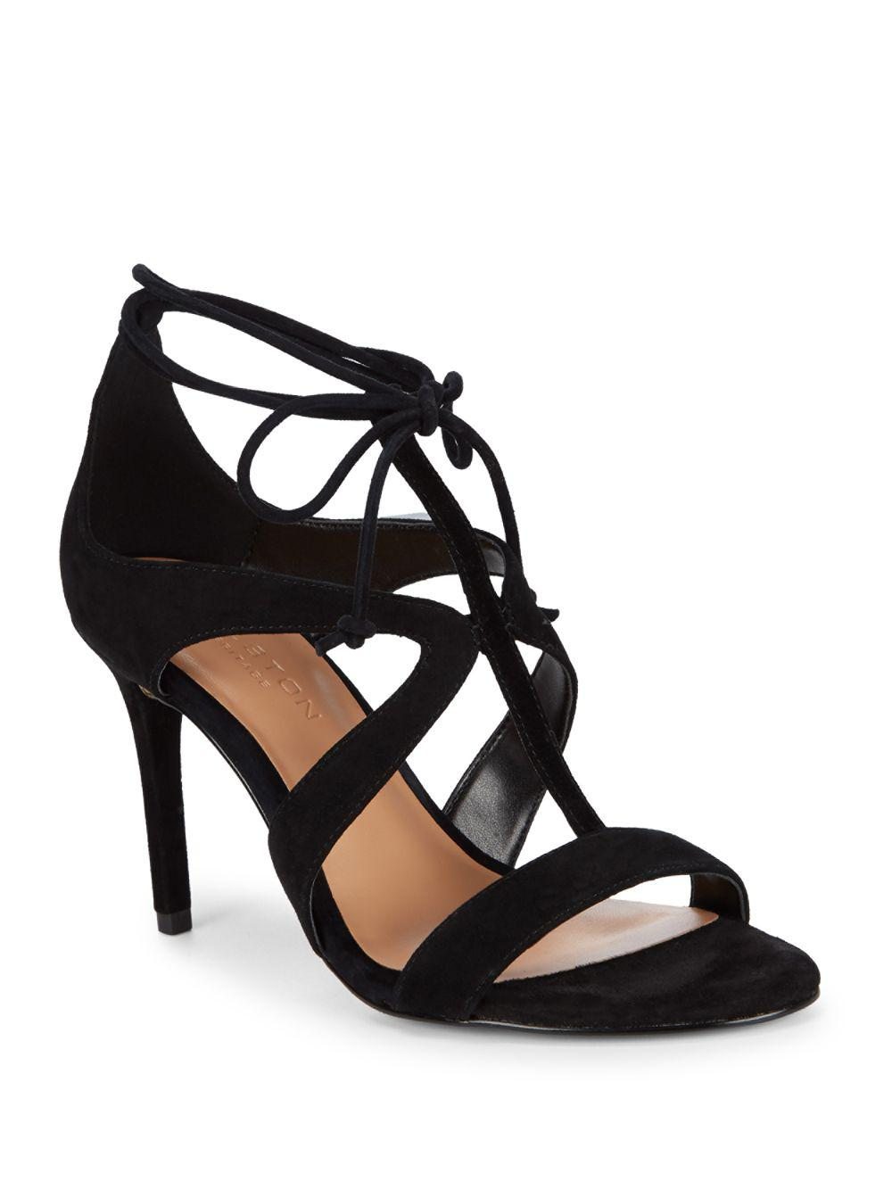 Halston Patent Leather T-Strap Sandals under $60 cheap price free shipping low price fee shipping high quality 100% original for sale 4AKQy75km
