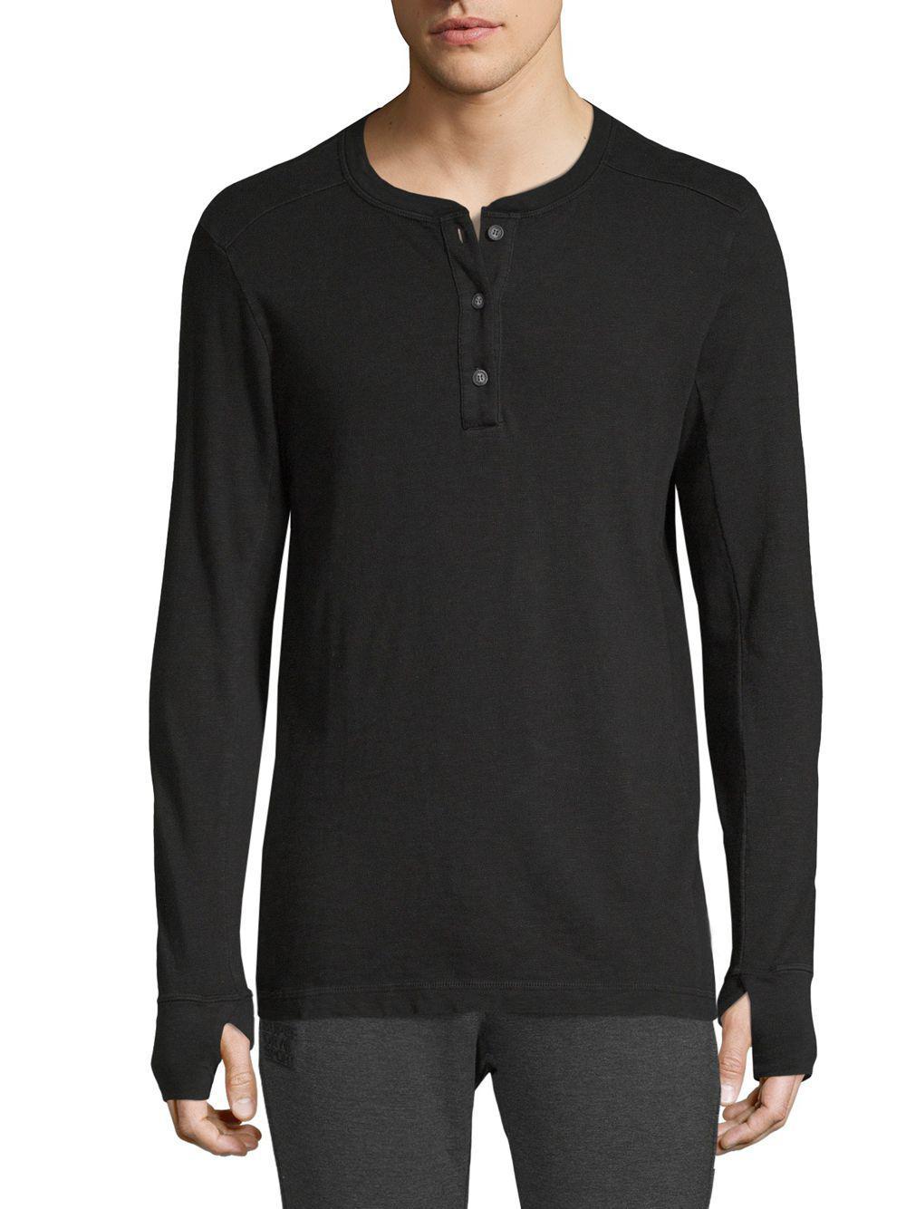 628b567f Vimmia - Black Alpha Long-sleeve Henley for Men - Lyst. View fullscreen