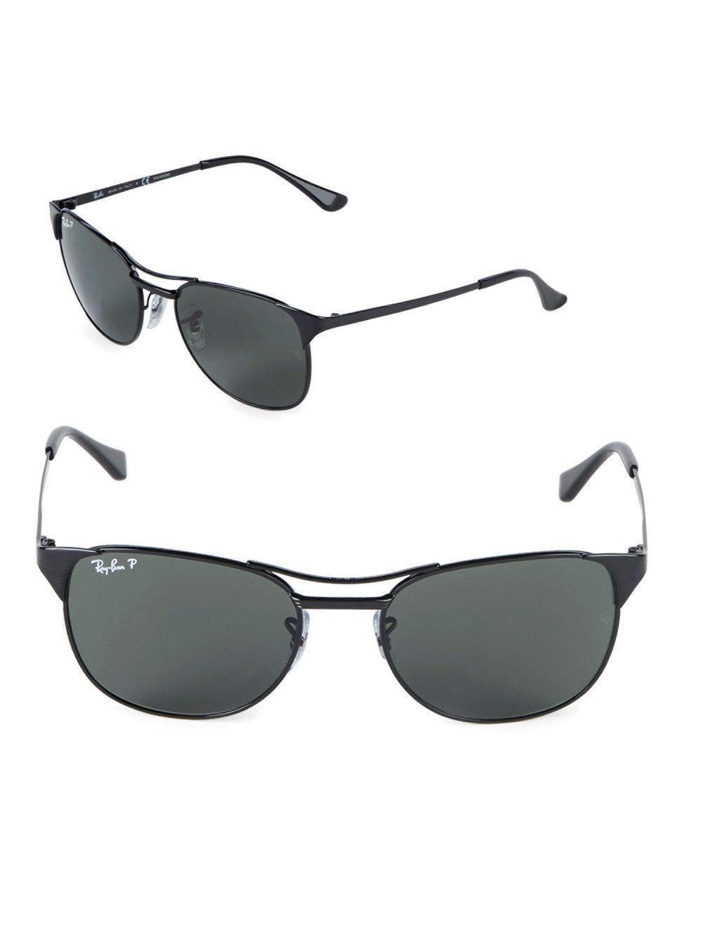 60ccf040f6 Lyst - Ray-Ban 55mm Polarized Signet Sunglasses in Black for Men ...