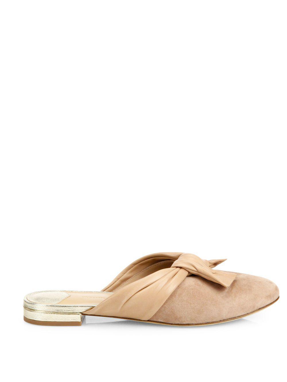 Diane von Furstenberg - Natural Doha Suede & Leather Flat Mules - Lyst.  View Fullscreen