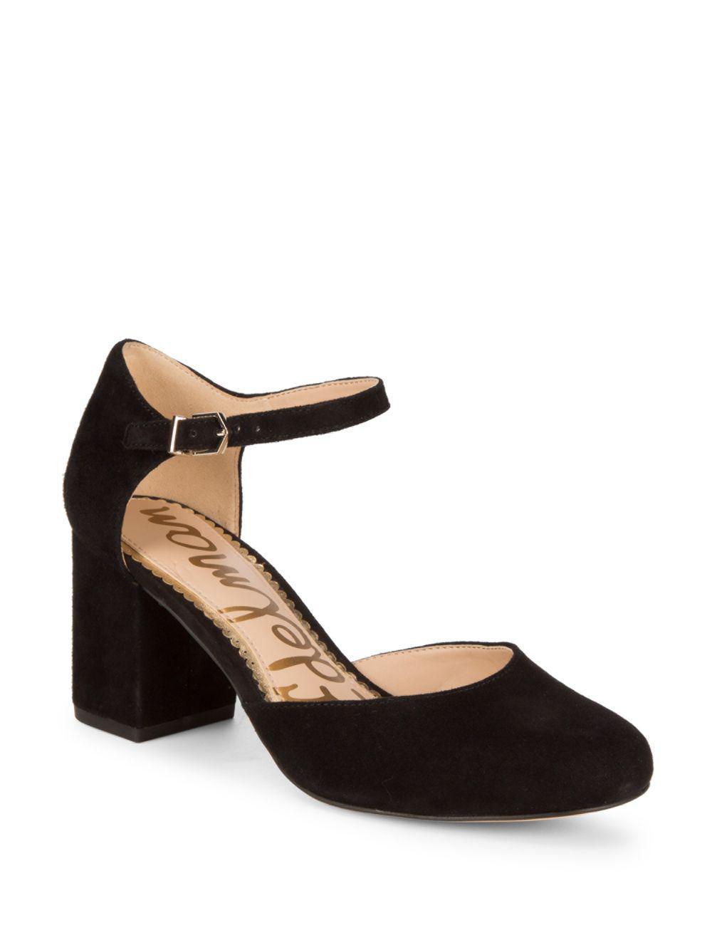 8a8b11f1e Lyst - Sam Edelman Clover Ankle-strap Pumps in Black