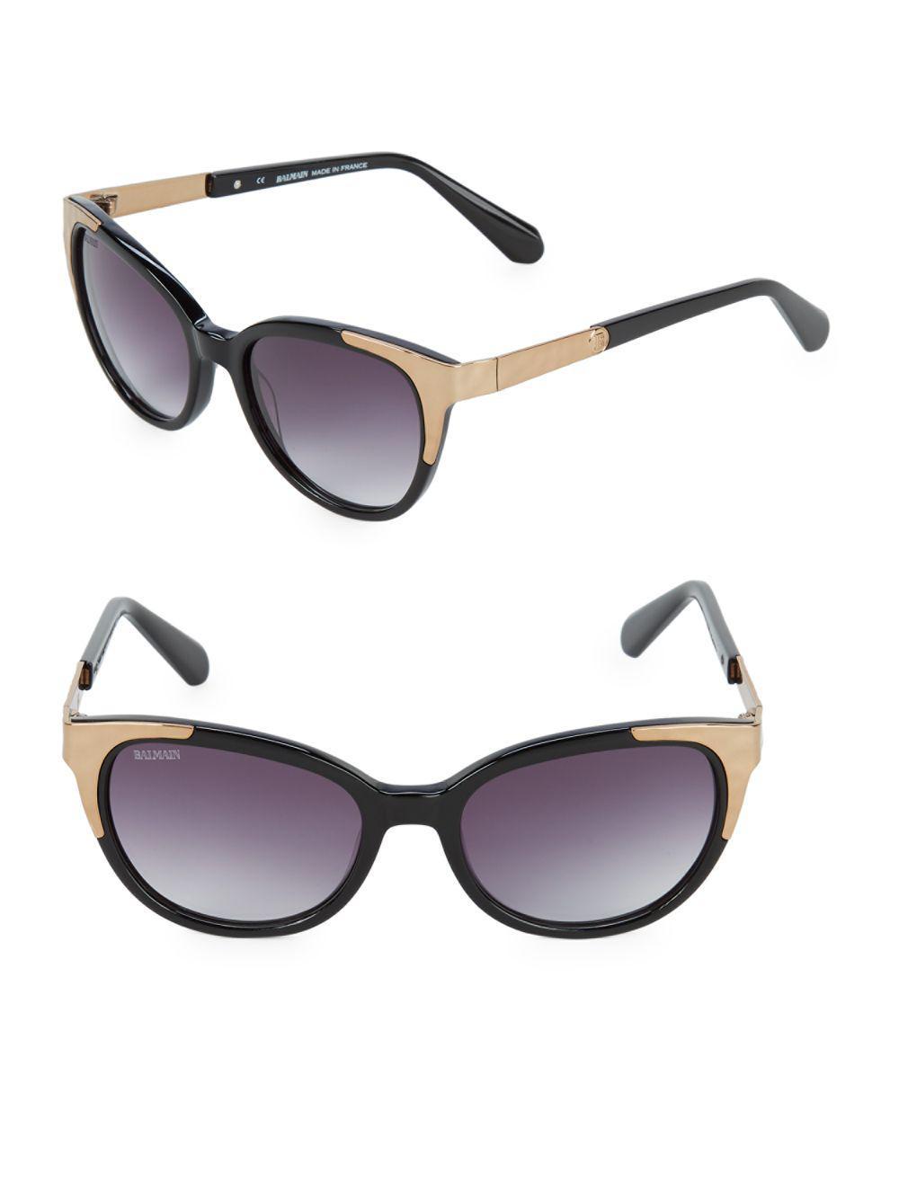04d6b93113ec Balmain - Black Metallic 53mm Oval Sunglasses - Lyst. View fullscreen