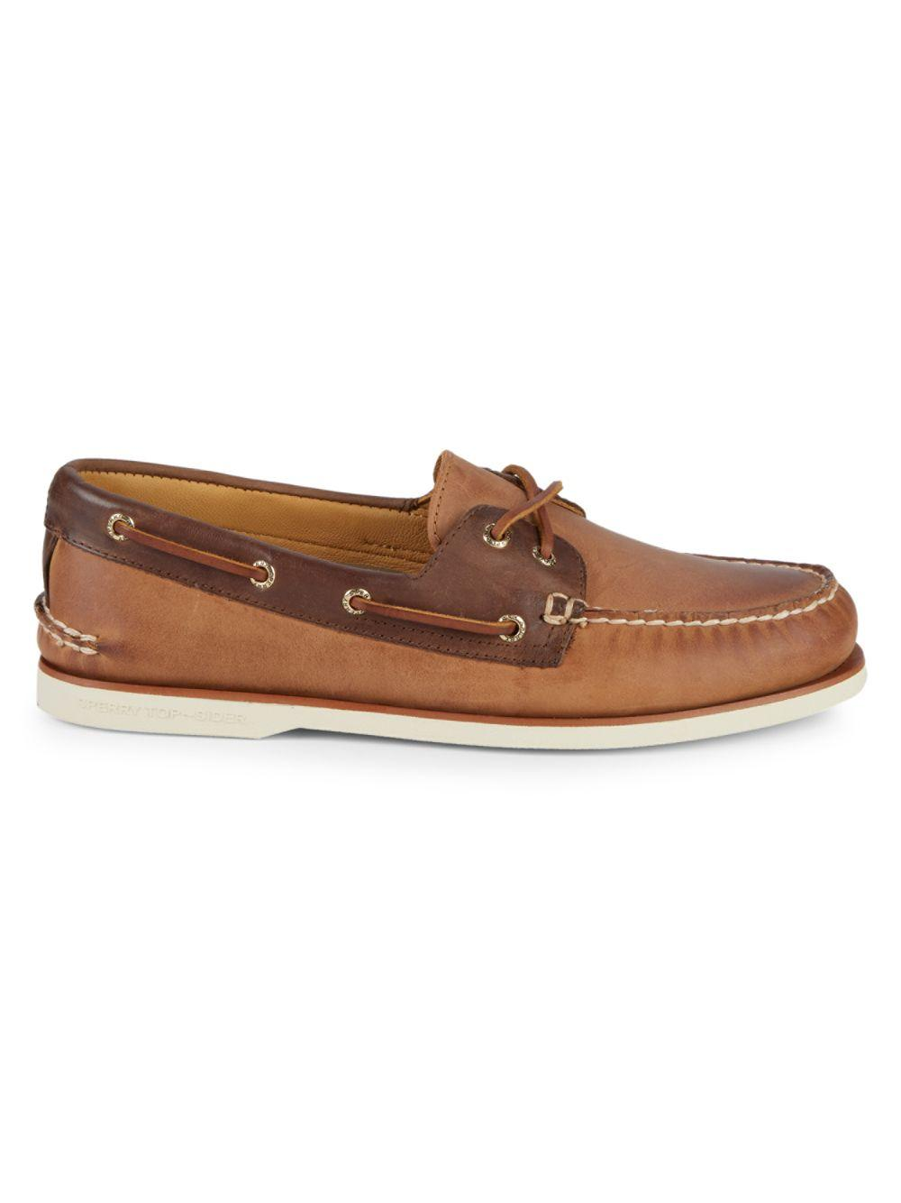 94febccc12 Sperry Top-Sider. Men s Brown Gold Cup Authentic Original Leather Boat Shoes