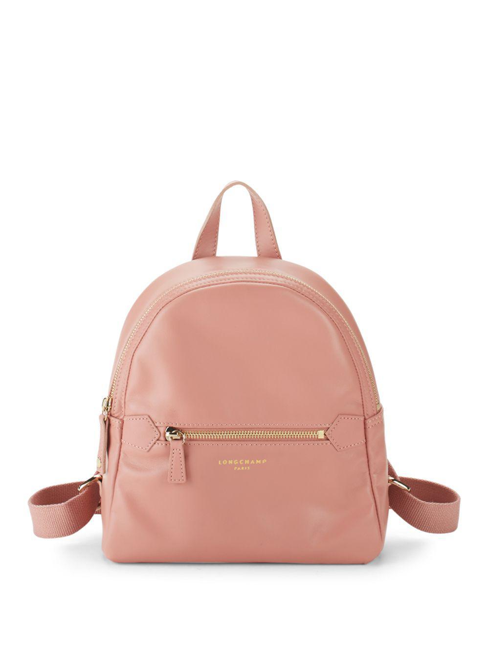 b35a32a7461e Longchamp - Pink Leather Backpack - Lyst. View fullscreen