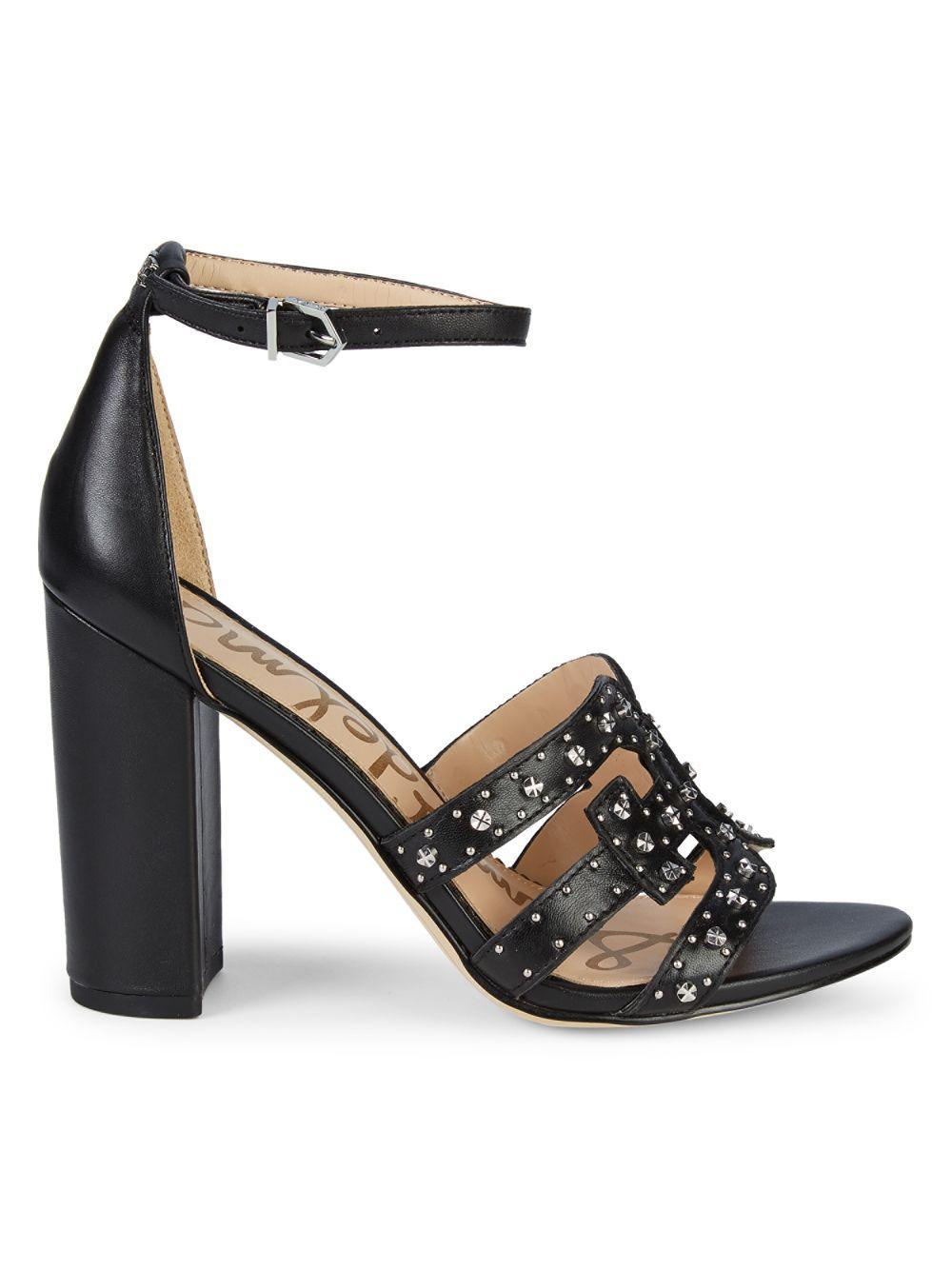 0aae608cfbba Lyst - Sam Edelman Pacific Northwest Yasha Leather Heeled Sandals in ...