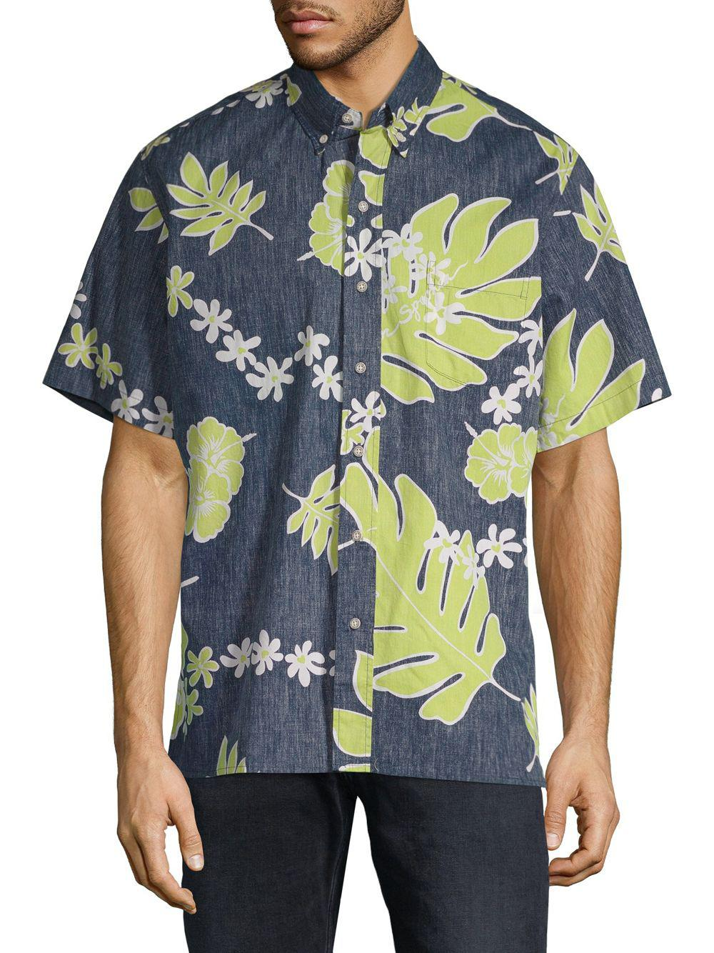 0cc722550 Lyst - Reyn Spooner Old School Cotton Button-down Shirt in Blue for Men