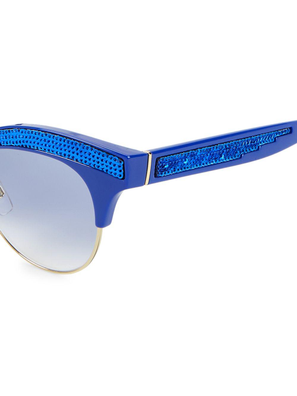 fdaf68fe0f41 Dolce   Gabbana - Blue 50mm Sequin Trim Cateye Sunglasses - Lyst. View  fullscreen
