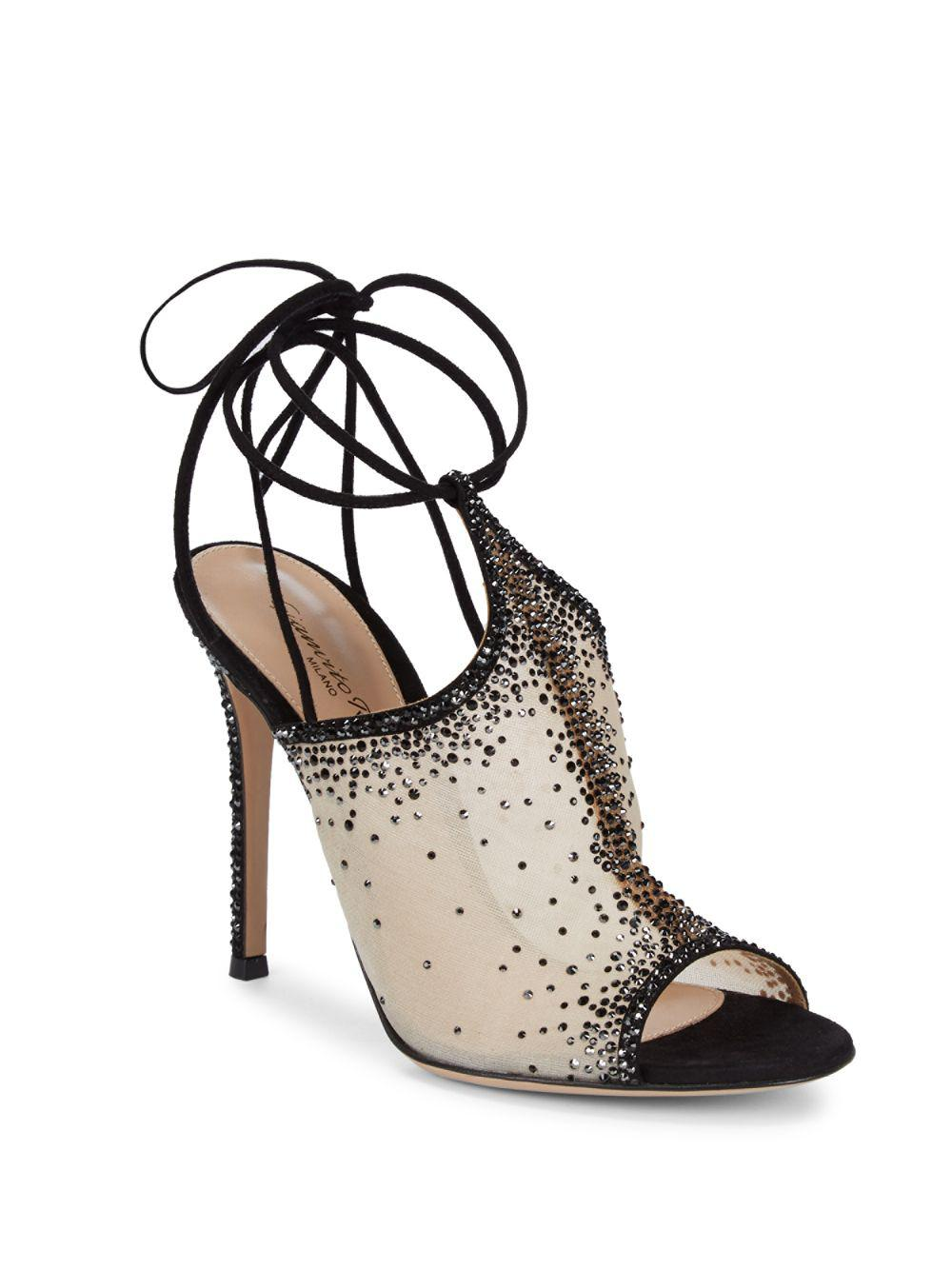 73afe01e1a10 Lyst - Gianvito Rossi Sequin Ankle Strap Sandals - Save 41%