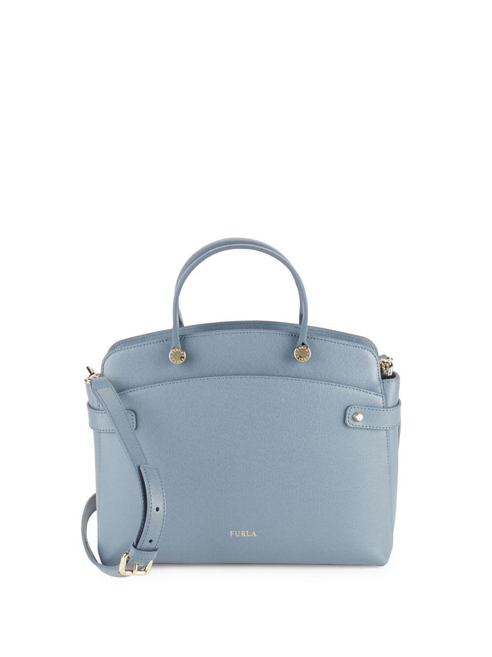 6aedd41ba7 Lyst - Furla Leather To Zip Shoulder Bag in Blue