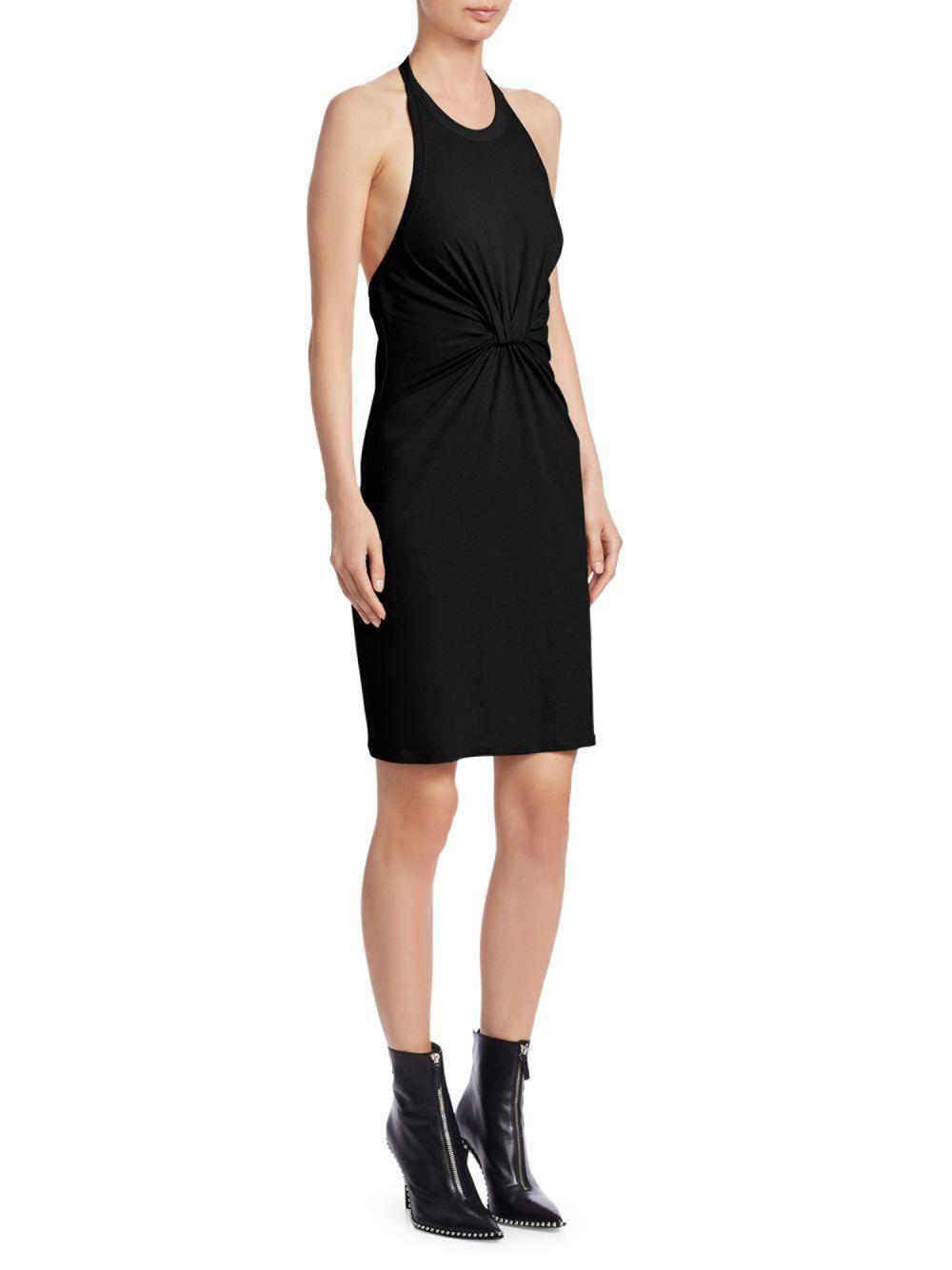 e30568e36d9 Alexander Wang High Twist Jersey Halter Dress in Black - Lyst