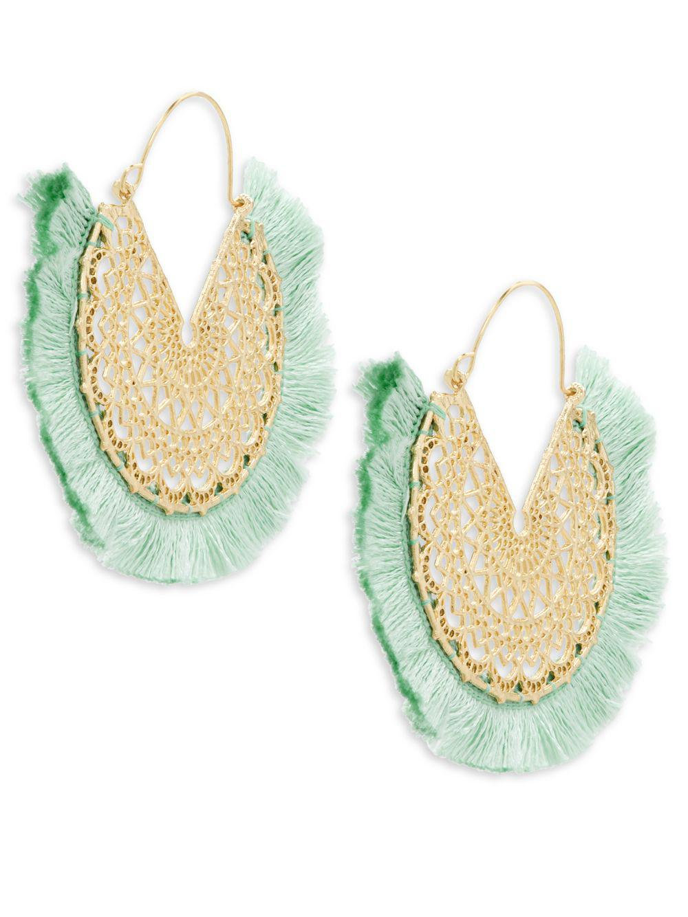 Panacea Filigree Fringe Drop Earrings