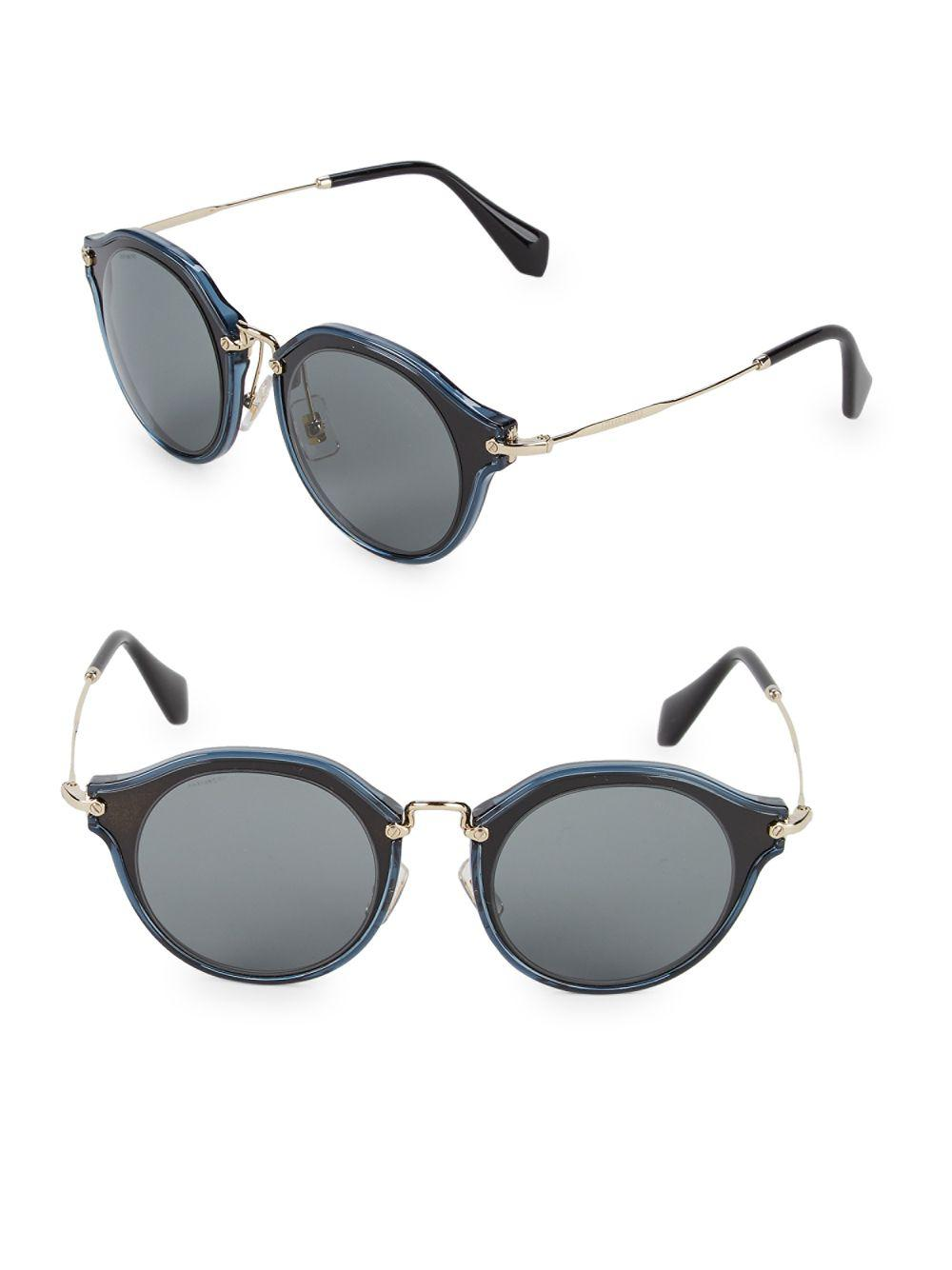 aa19422c93 Miu Miu Two-tone 49mm Professor Sunglasses in Metallic - Lyst