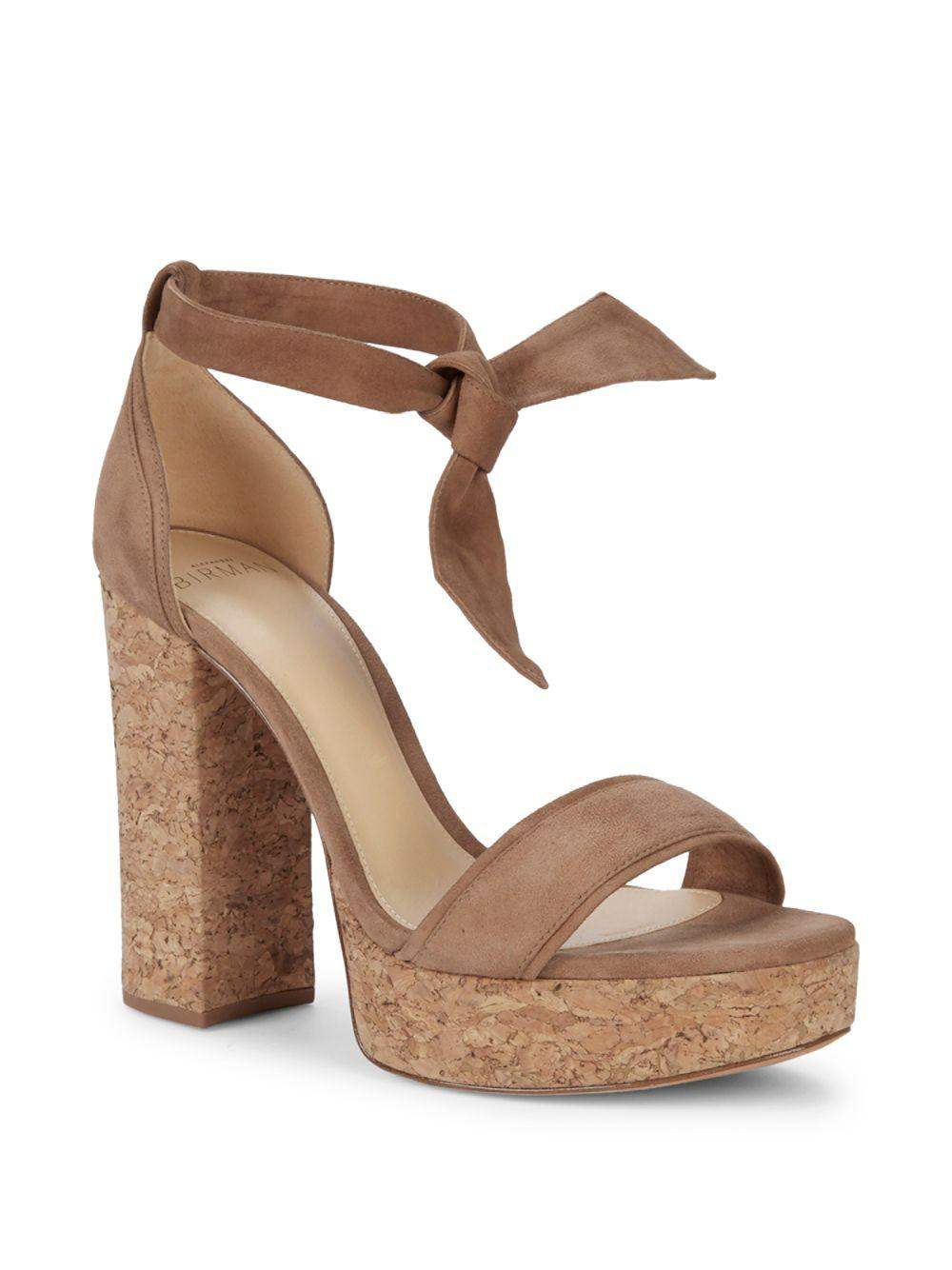 d2a9306c39a Lyst - Alexandre Birman Celine Cork Platform Sandals in Natural
