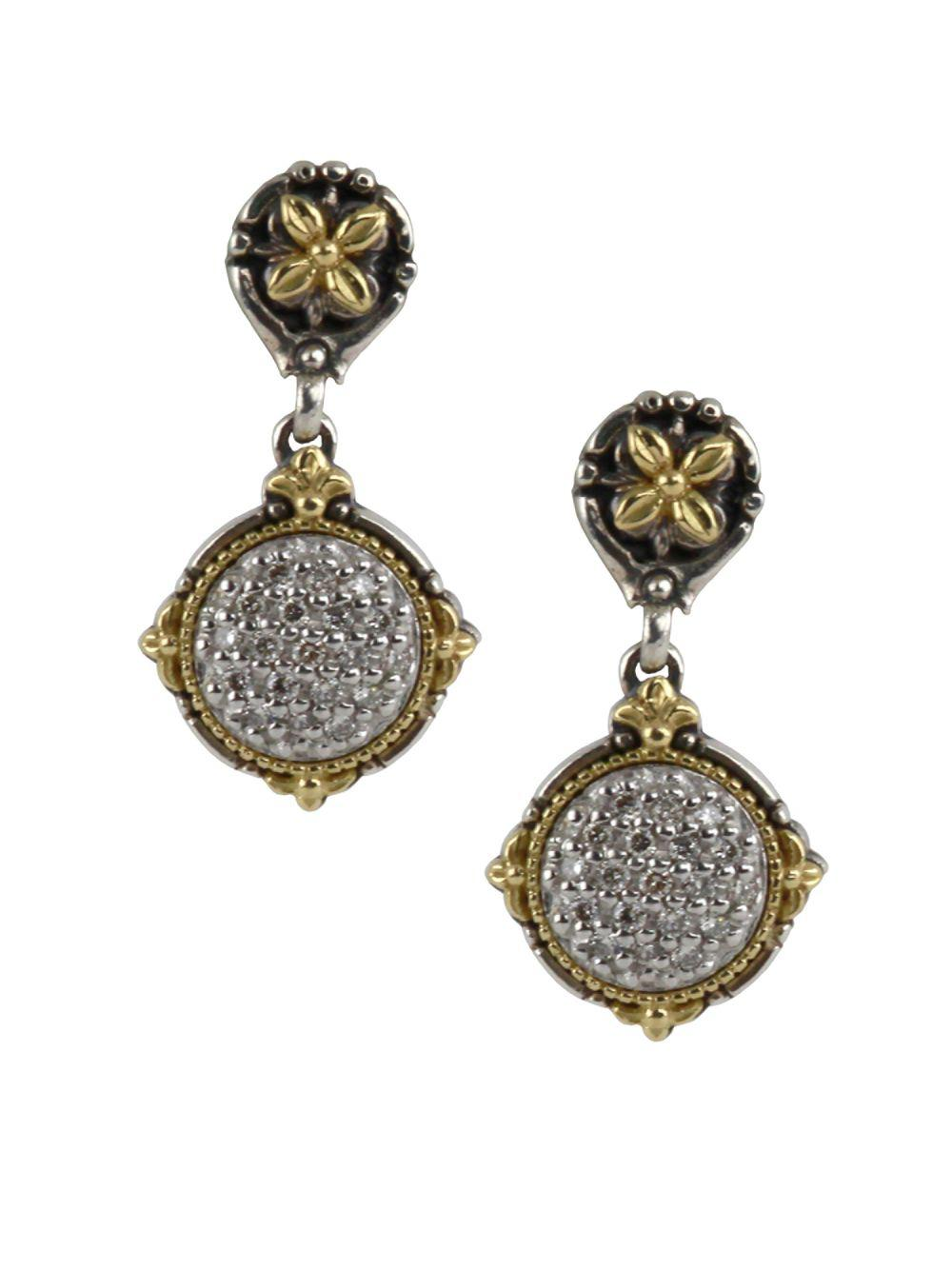Konstantino Asteri Pave Black Diamond Double-Drop Earrings ResEHrux