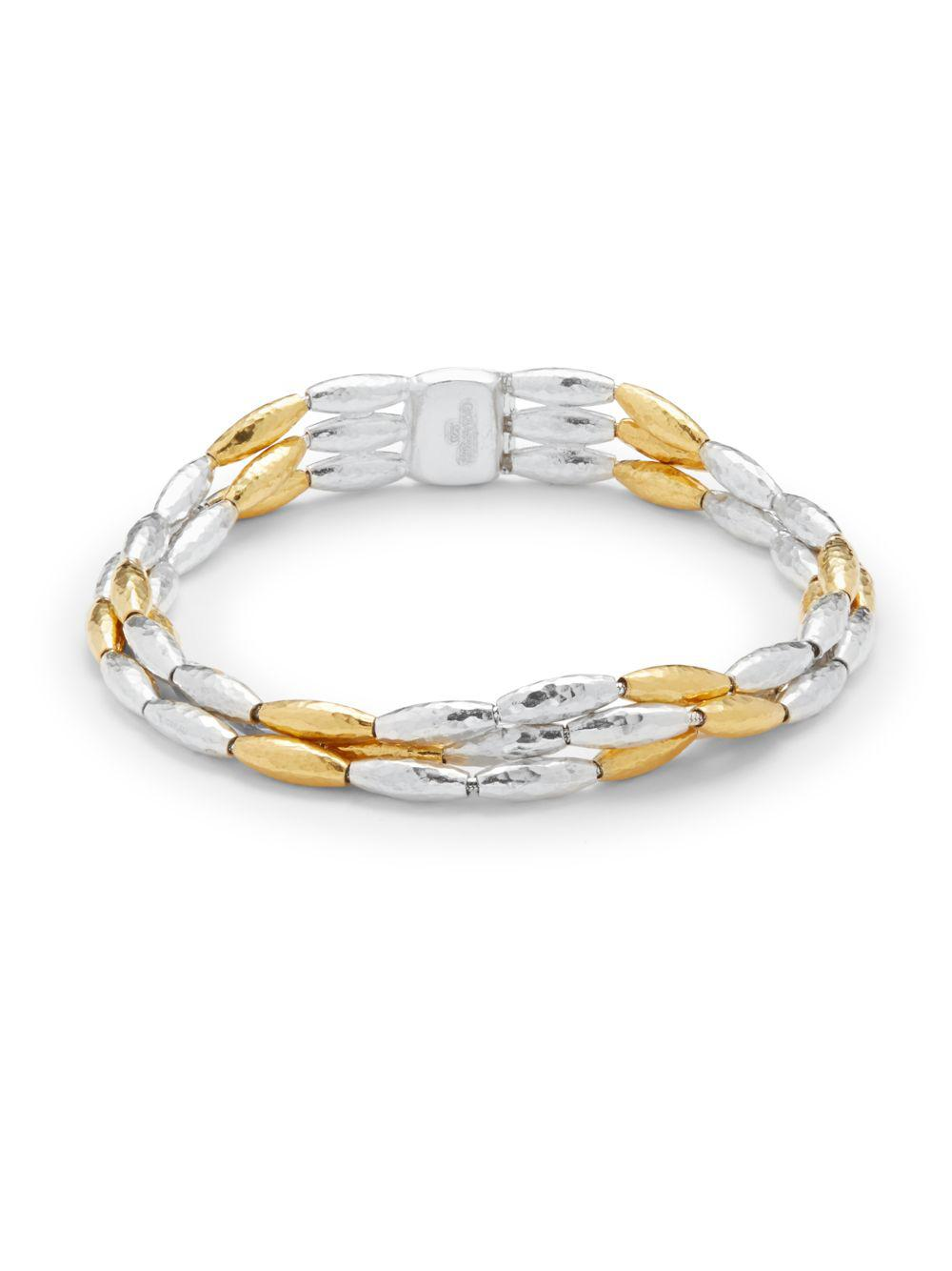 finish gold product smooth bullion bracelet