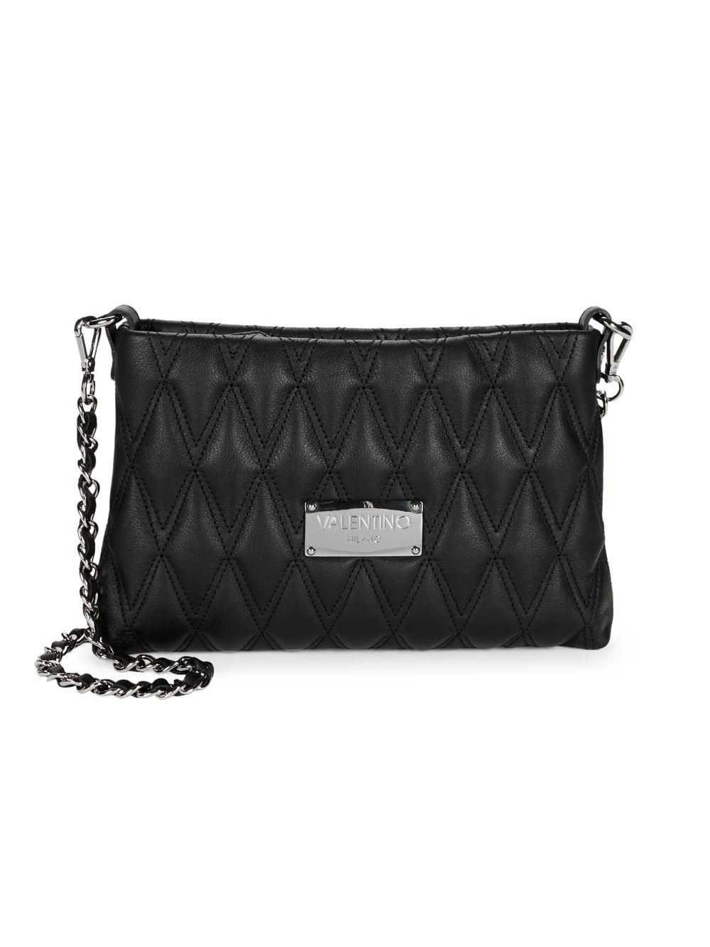 8c4e7a50ad7d Valentino By Mario Valentino. Women s Black Vaniled Diamond Quilted  Crossbody Bag