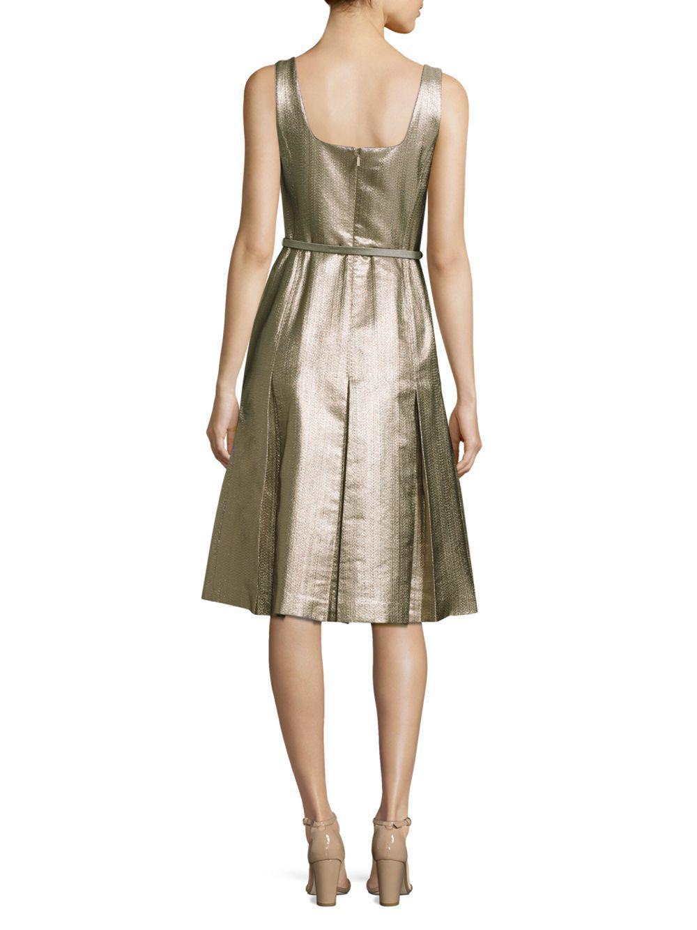 e8812a38dd34 Lafayette 148 New York Lois Metallic A-line Dress in Metallic - Save 33% -  Lyst