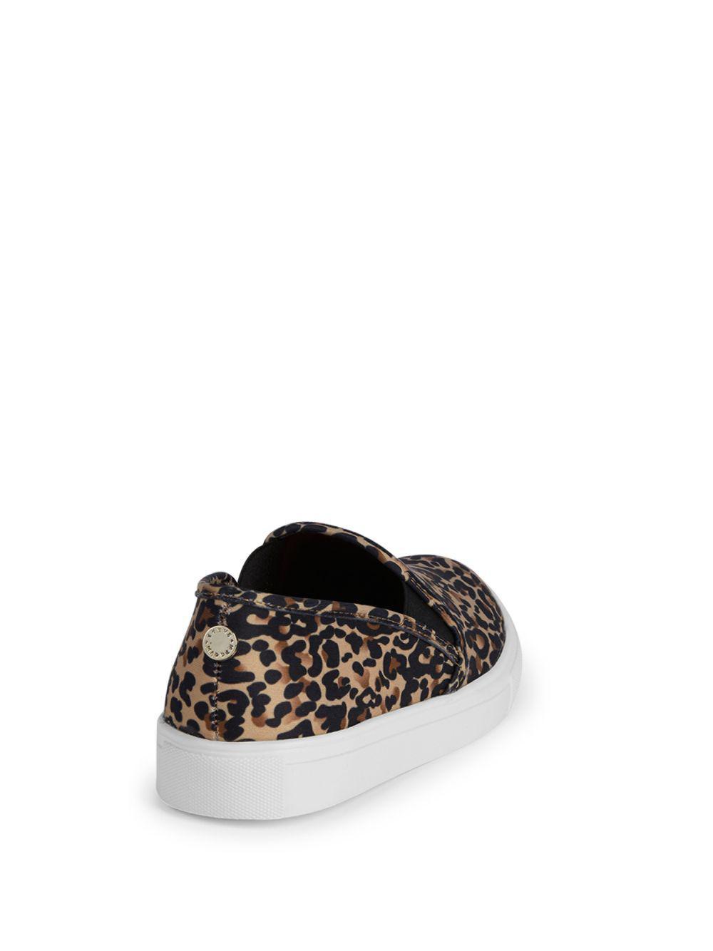f4221225027 Lyst - Steve Madden Leopard-print Platform Sneakers in Brown