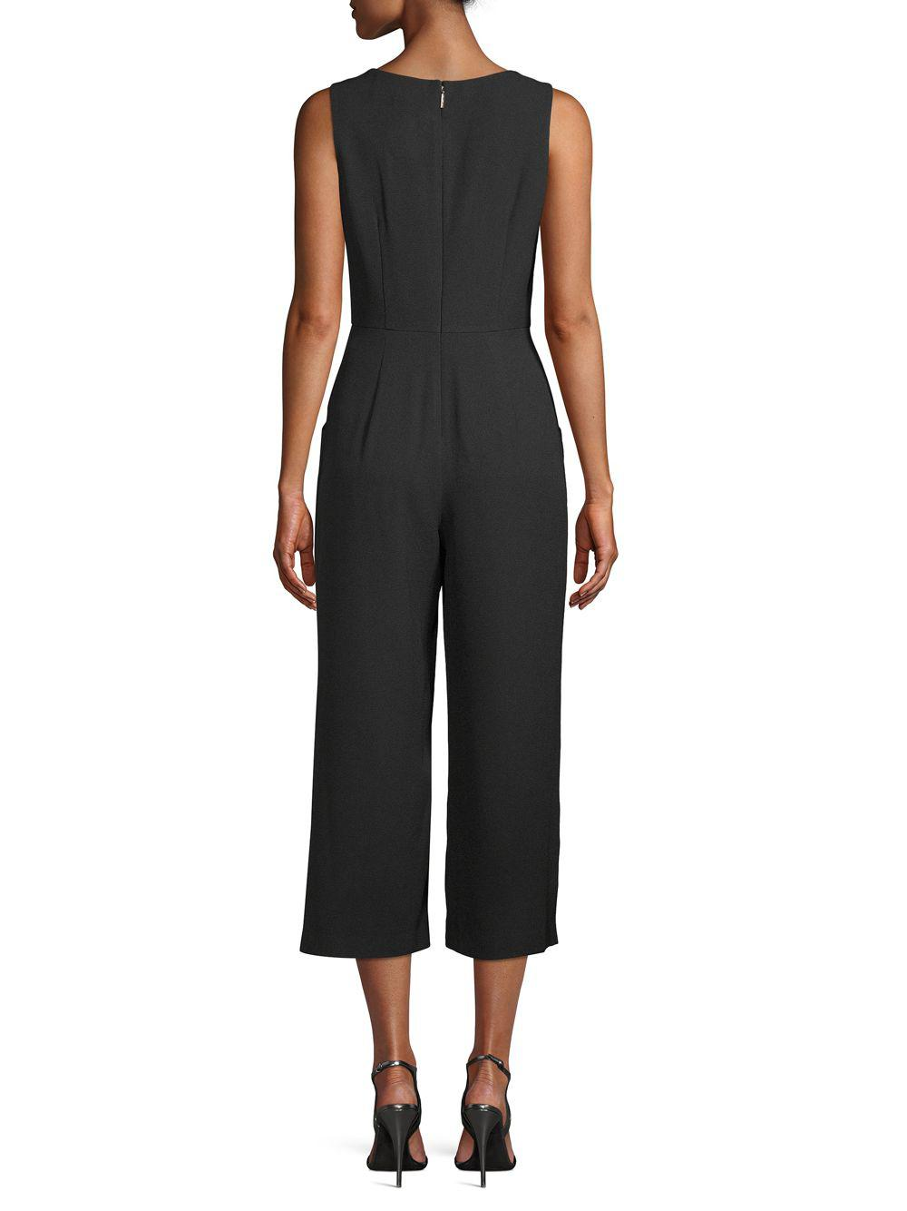 1ae37721fe0 Karl Lagerfeld - Black V-neck Sleeveless Jumpsuit - Lyst. View fullscreen