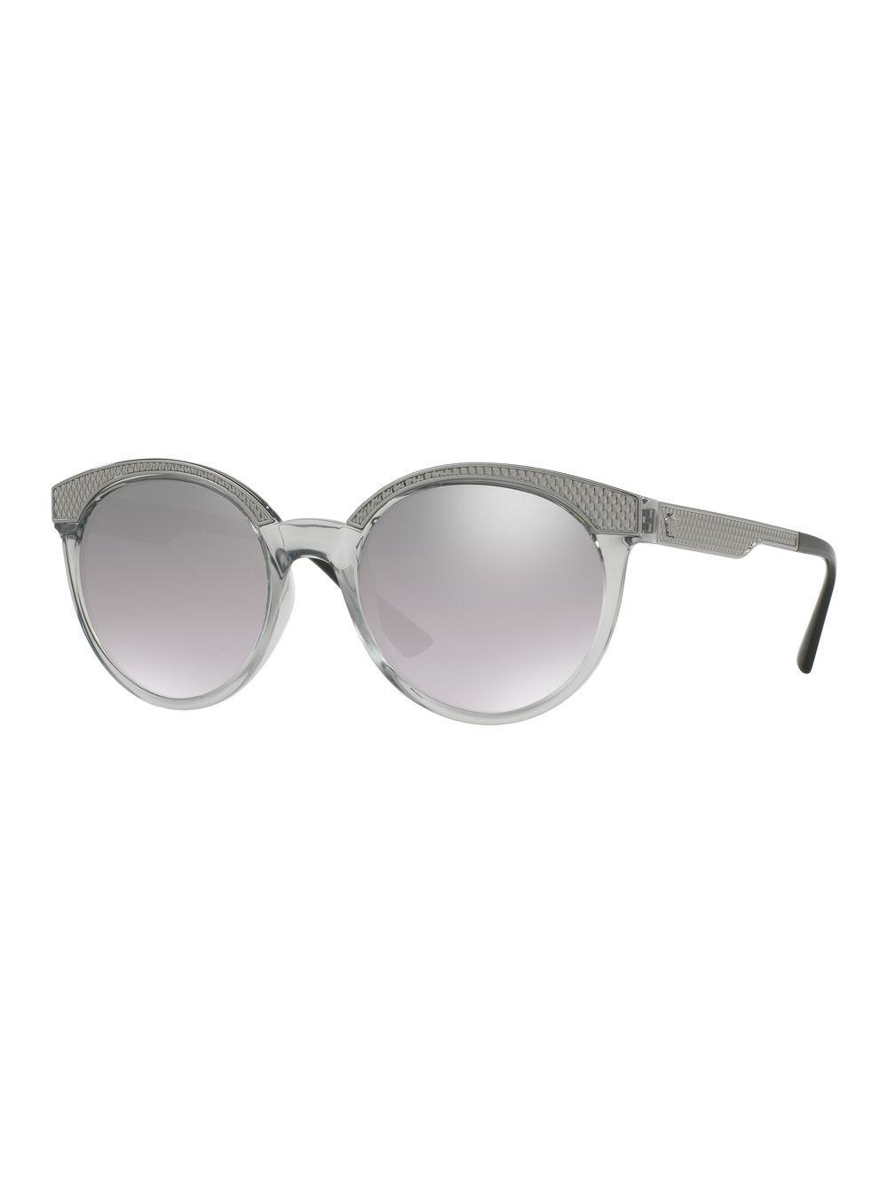 45d41c2b468 Lyst - Versace 53mm Round Sunglasses in Gray