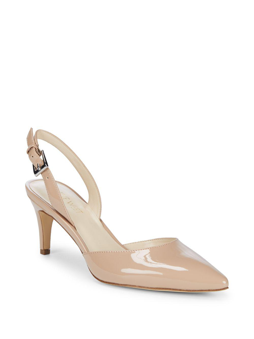 69270ae8a74 Lyst - Nine West Epiphany Slingback Heels in Natural