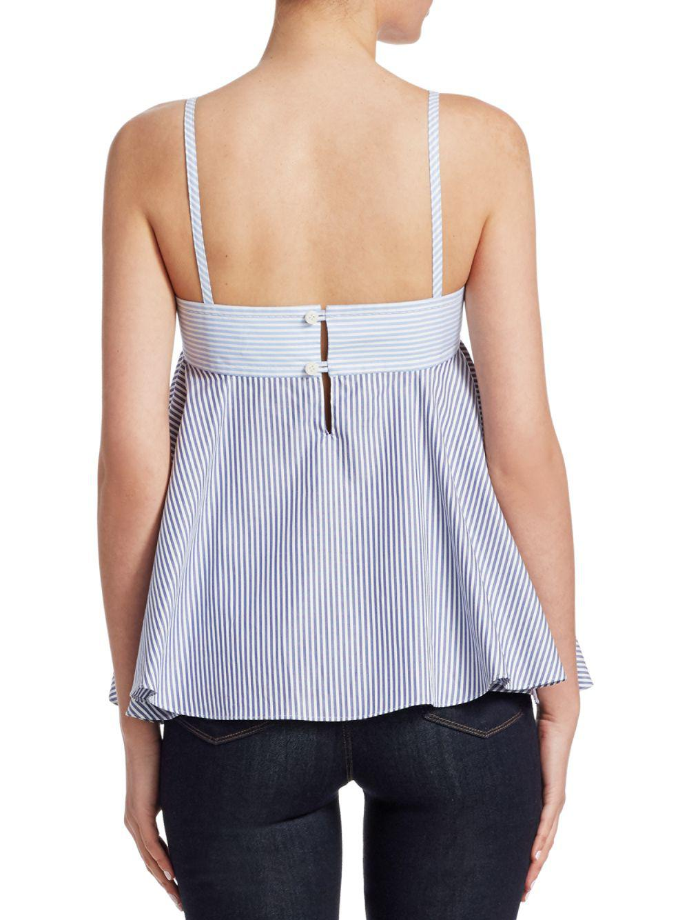 online retailer 94ab5 eebda carven-Baby-Blue-Striped-Ruffle-Top.jpeg