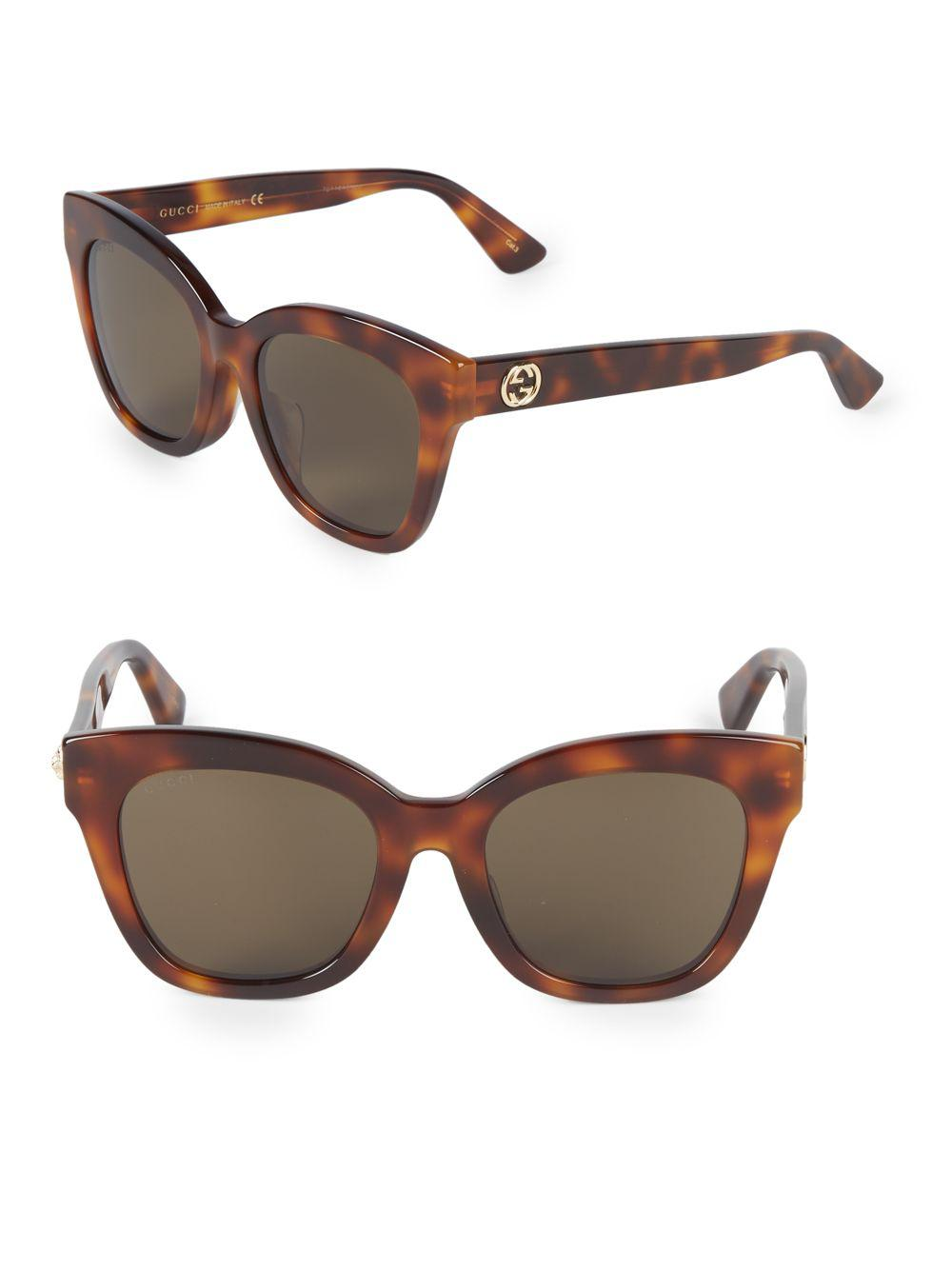4df152a53ea32 Gucci 52mm Square Sunglasses in Brown - Lyst