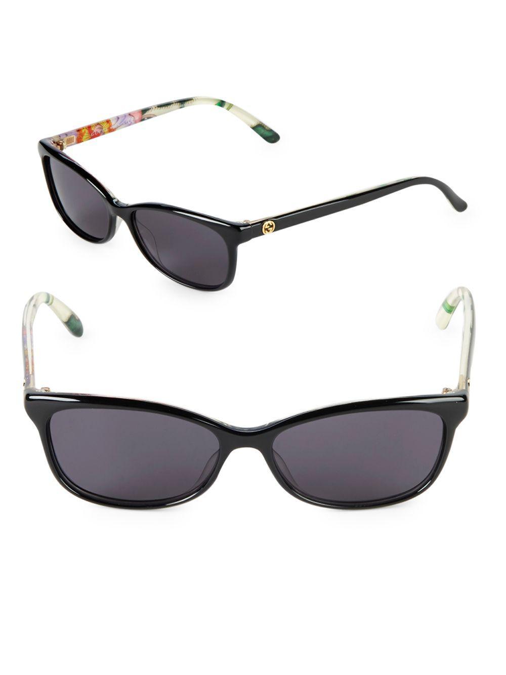 dcbb116a70d0b Lyst - Gucci 54mm Rectangle Sunglasses