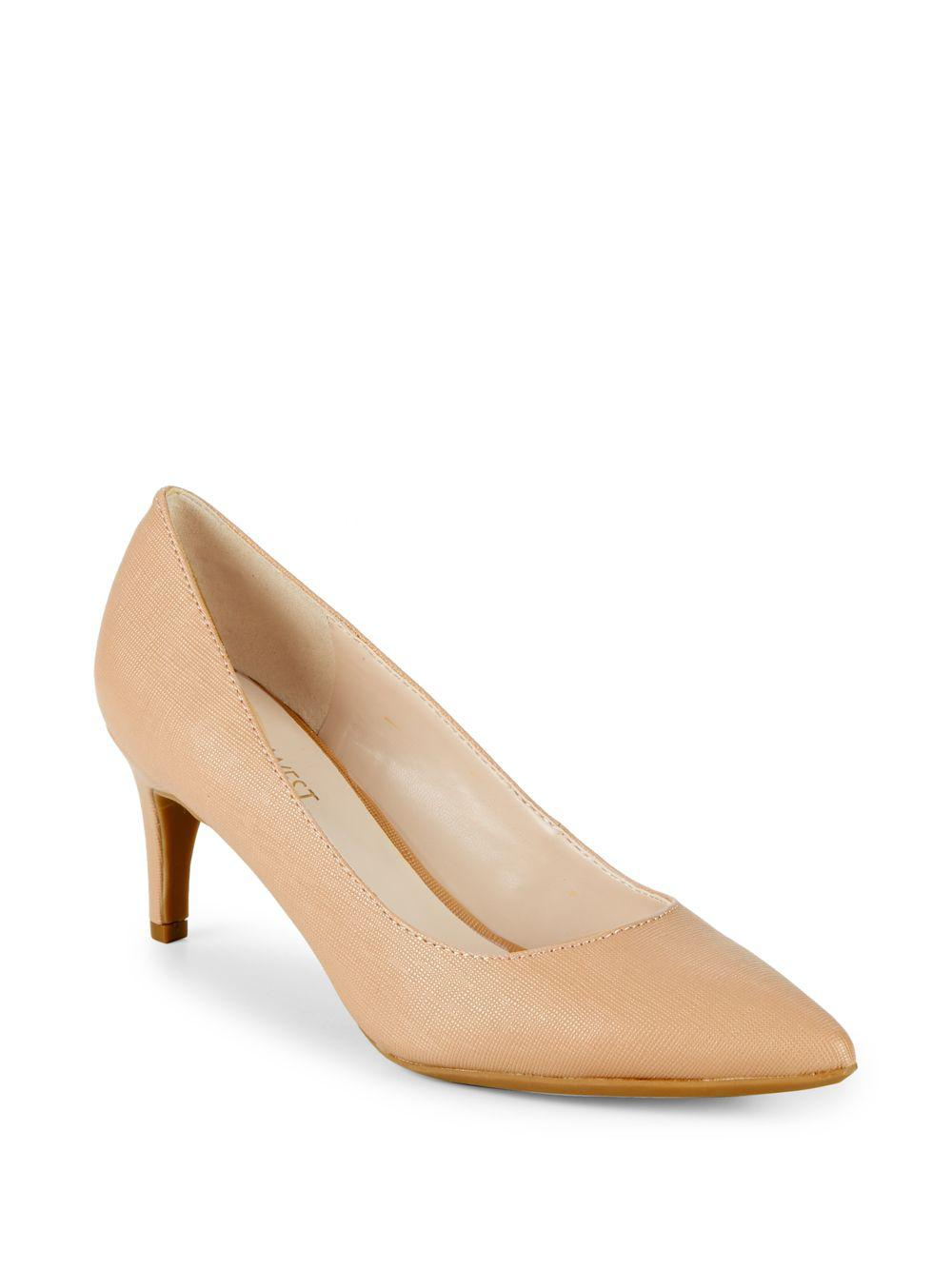 d4446ce8b5ac Lyst - Nine West Stiletto Heel Point Toe Pumps in Natural